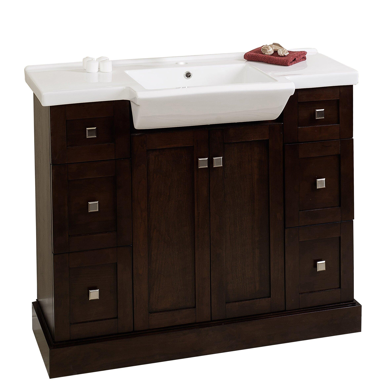 """American Imaginations 40"""" Single Modern Bathroom Vanity ..."""