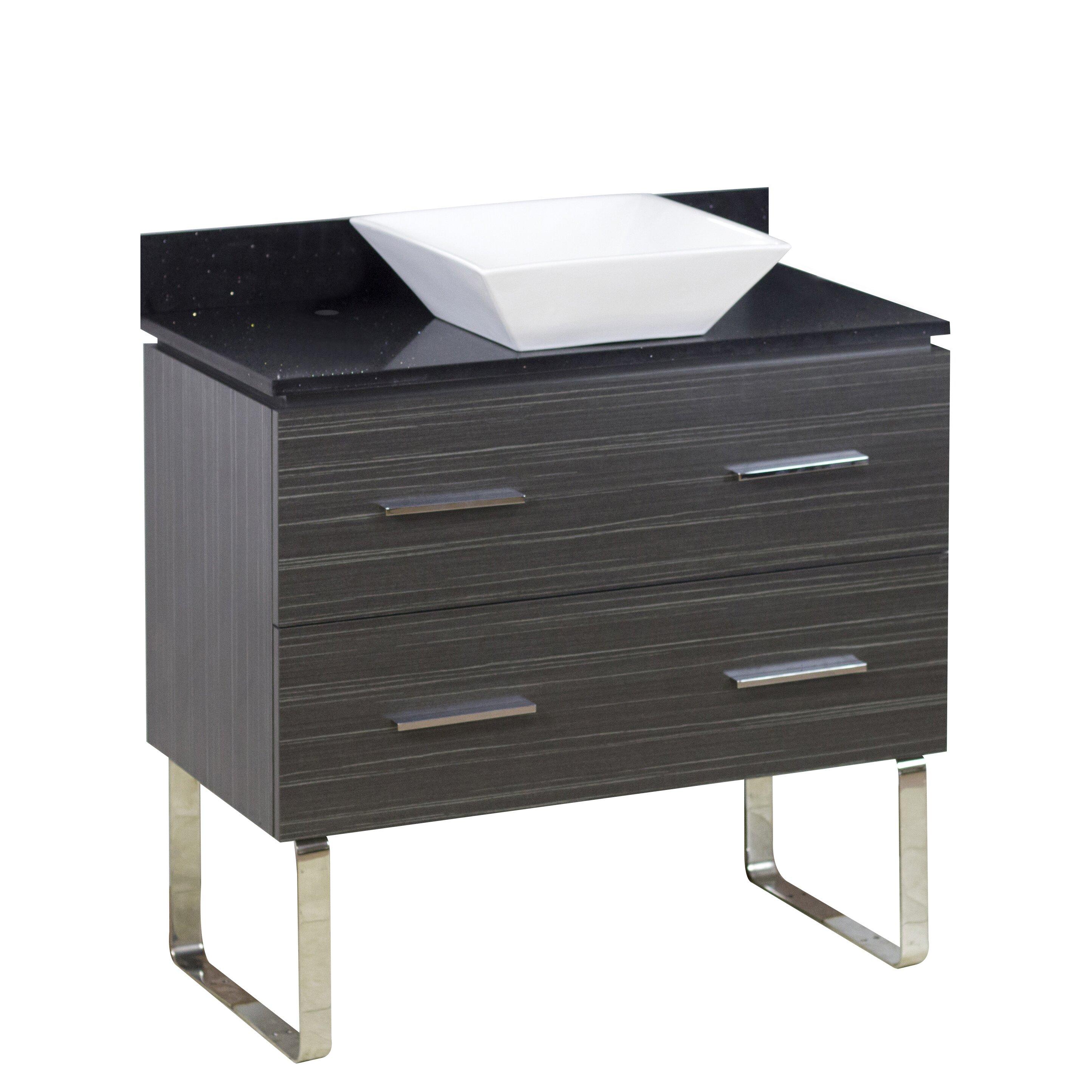 American imaginations 36 single modern bathroom vanity - Contemporary bathroom vanity sets ...