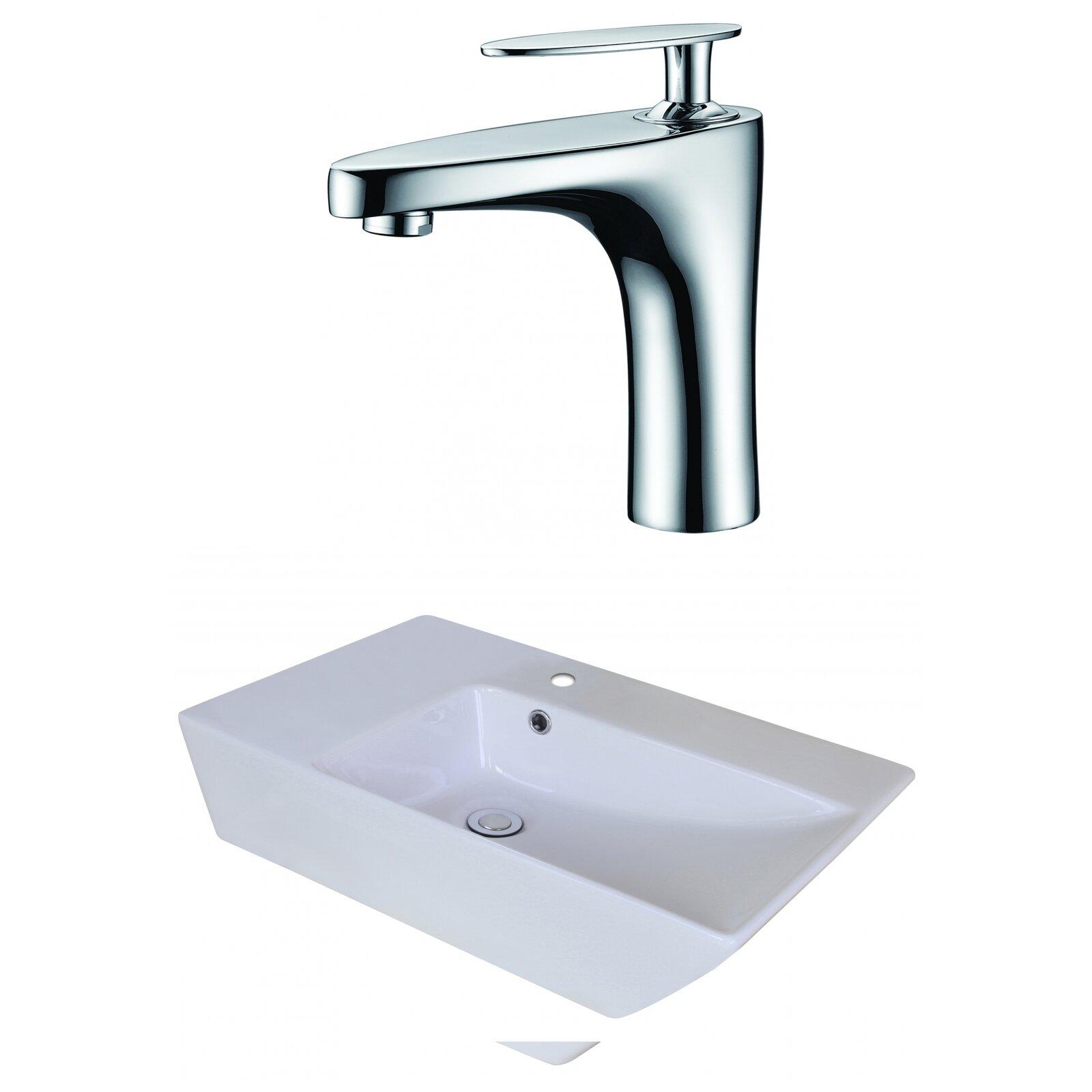 American imaginations rectangle vessel bathroom sink with - Rectangular sinks bathroom vessel ...