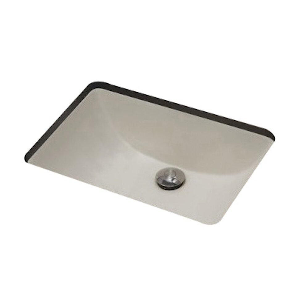 American Imaginations Rectangle Undermount Bathroom Sink