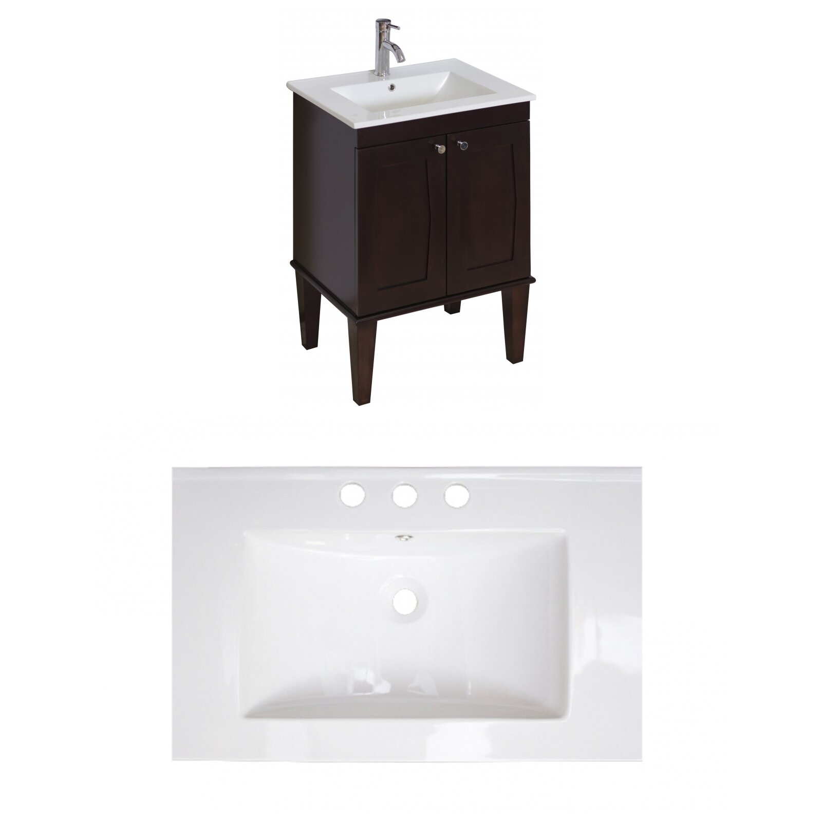 American imaginations roxy 24 single bathroom vanity set for Bath and vanity set