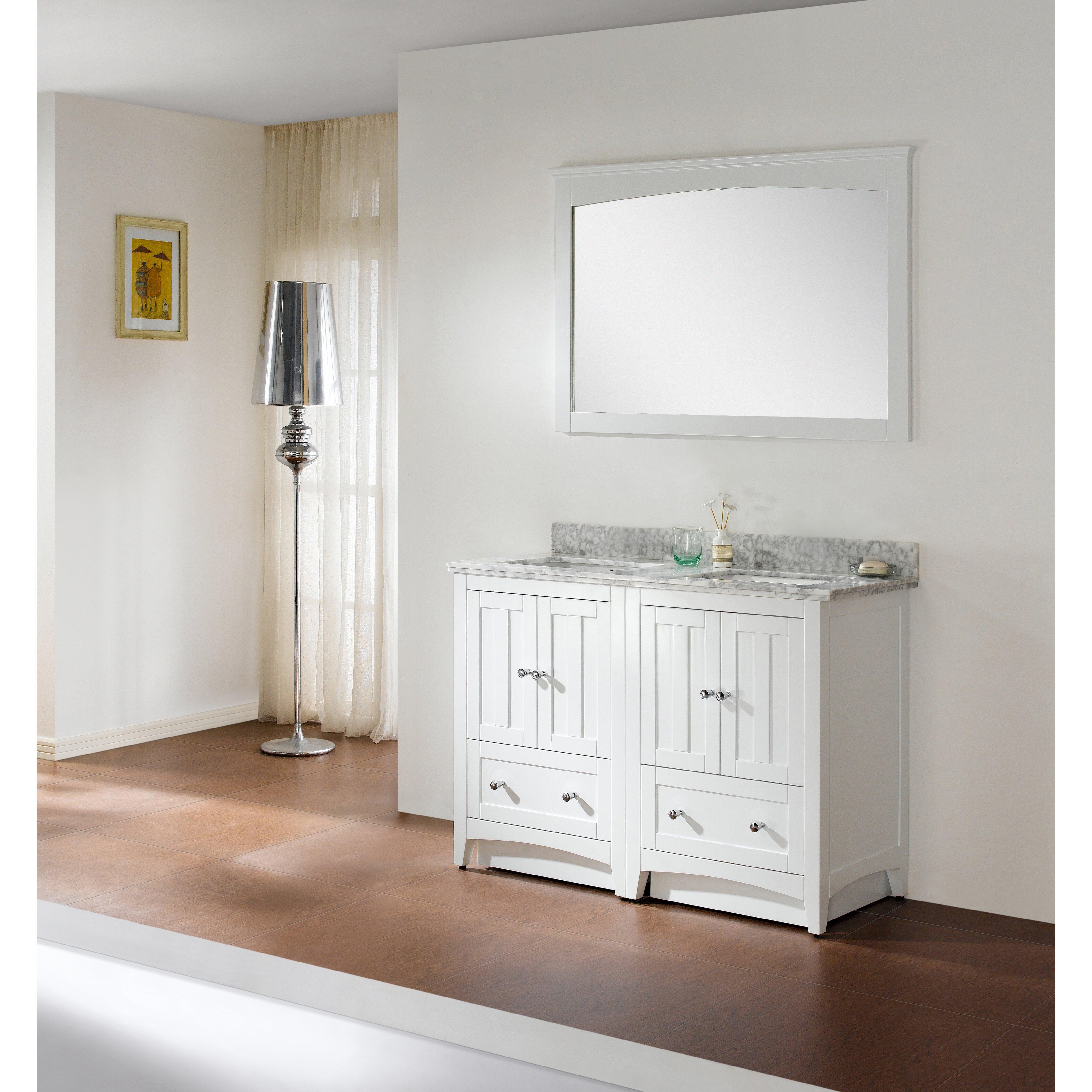 American Imaginations 47 5 Double Bathroom Vanity Set Wayfair