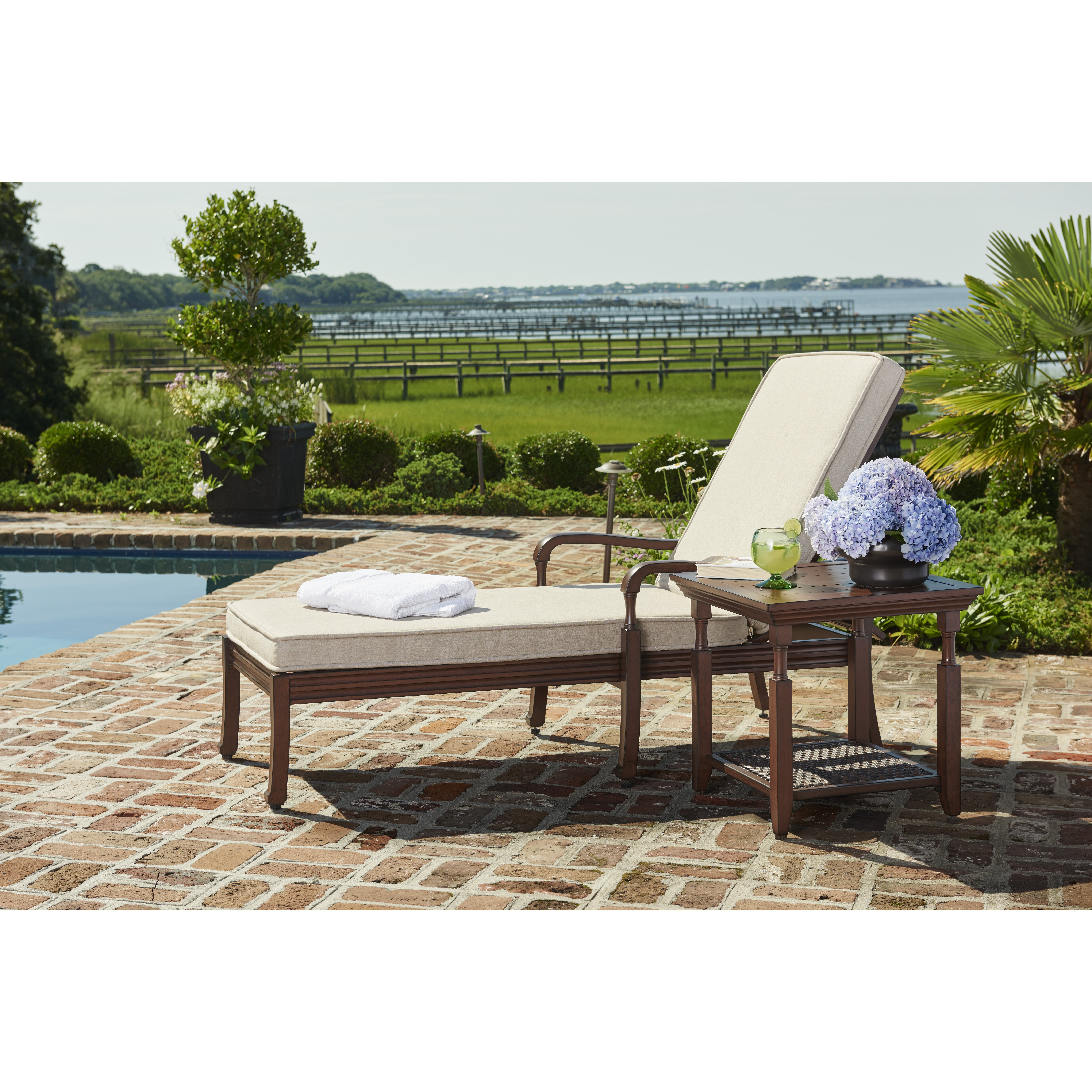 Sunvilla river house chaise lounge with cushion wayfair - Chaise a housser ...