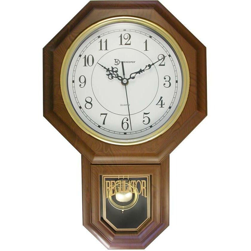 Artistic Products Essex Pendulum Wall Clock & Reviews ...