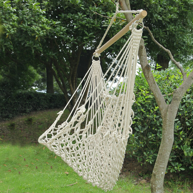 Garden Inspiration Hammock Giveaway: AdecoTrading Woven Rope Tree Hanging Suspended Indoor