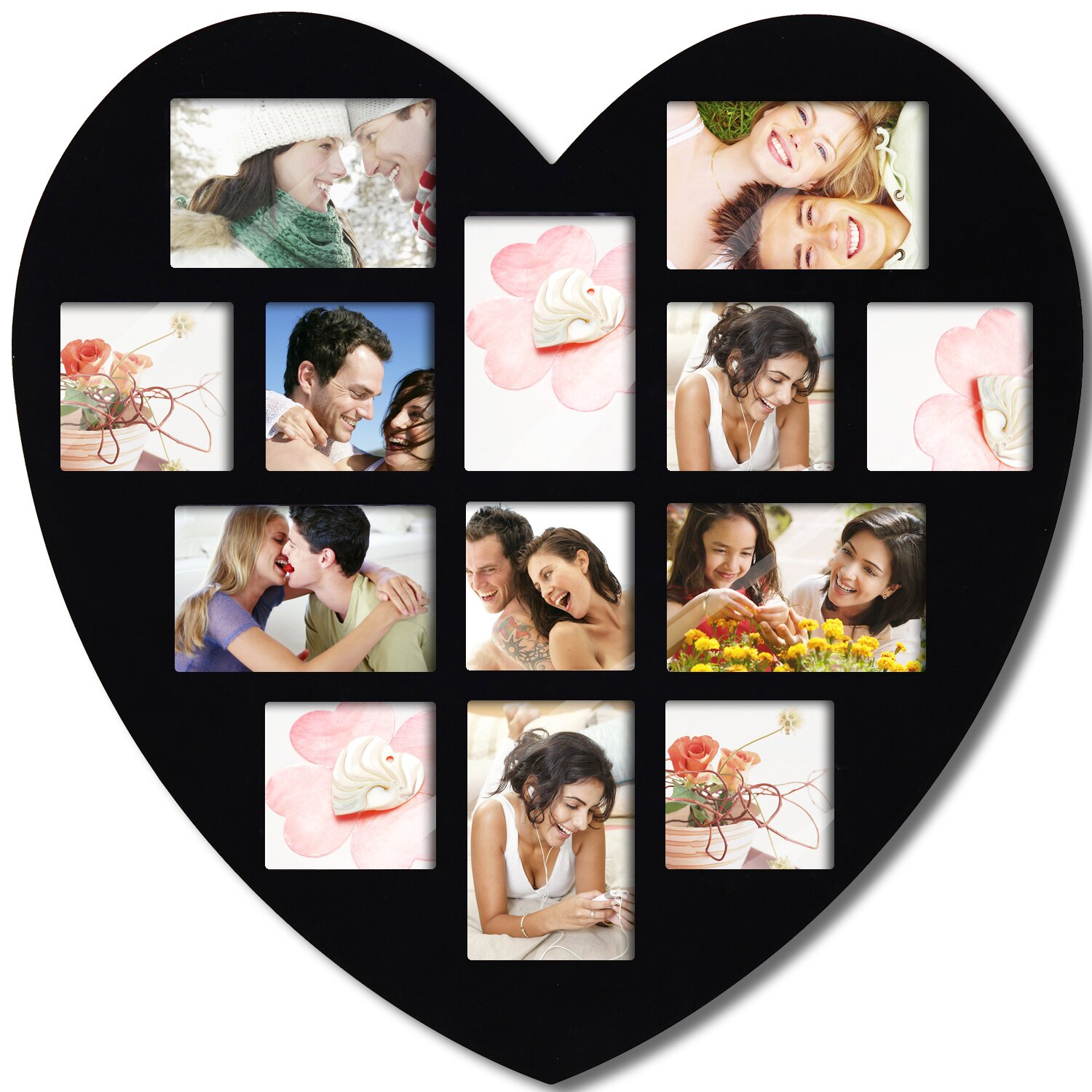adecotrading 13 opening heart collage picture frame