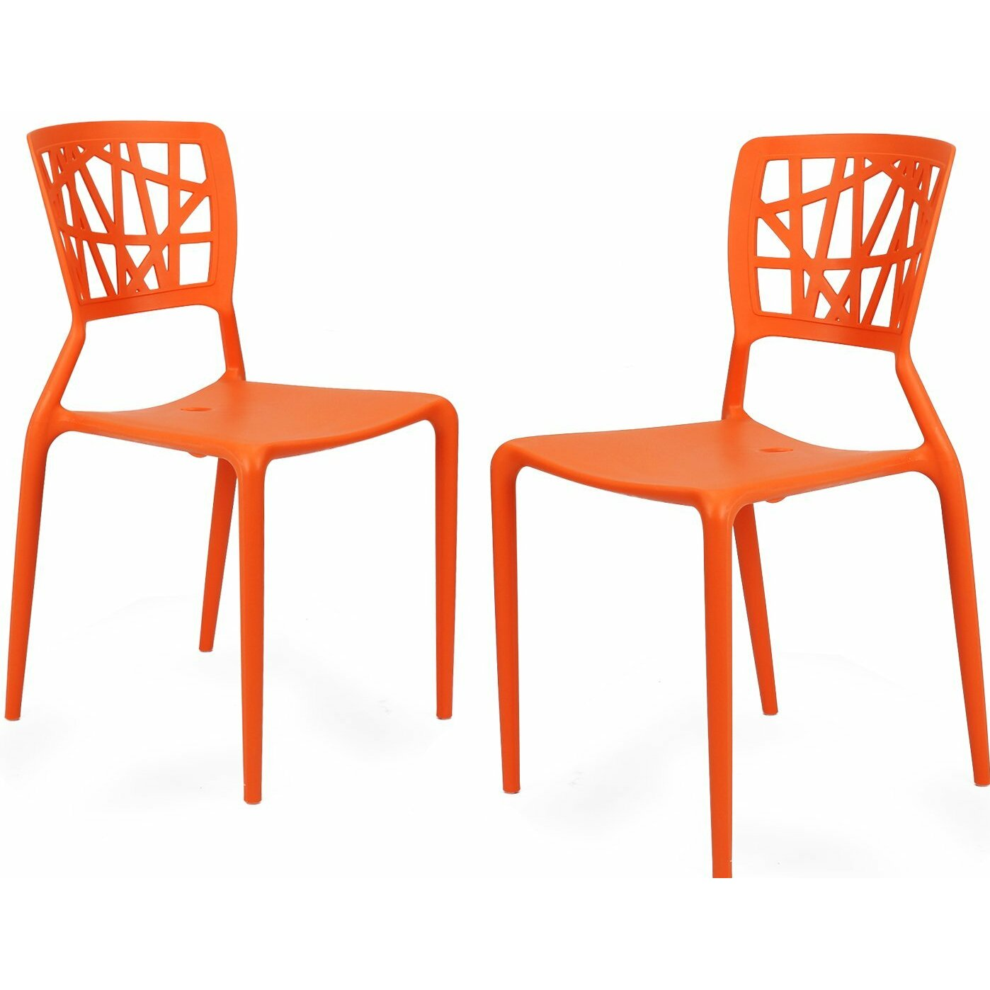 Stacking Dining Room Chairs: AdecoTrading Stacking Dining Side Chair & Reviews