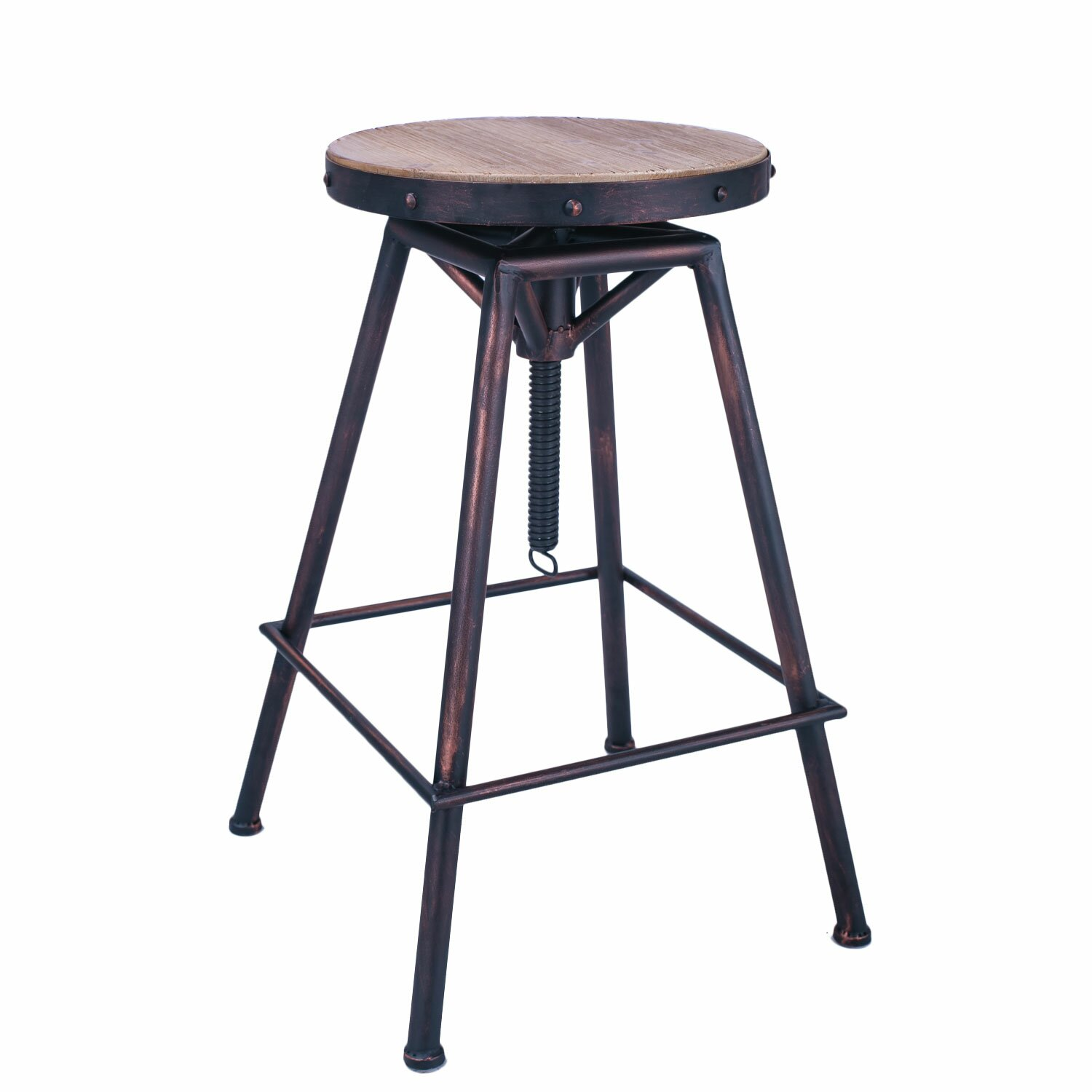 Adecotrading Adjustable Height Swivel Bar Stool Amp Reviews