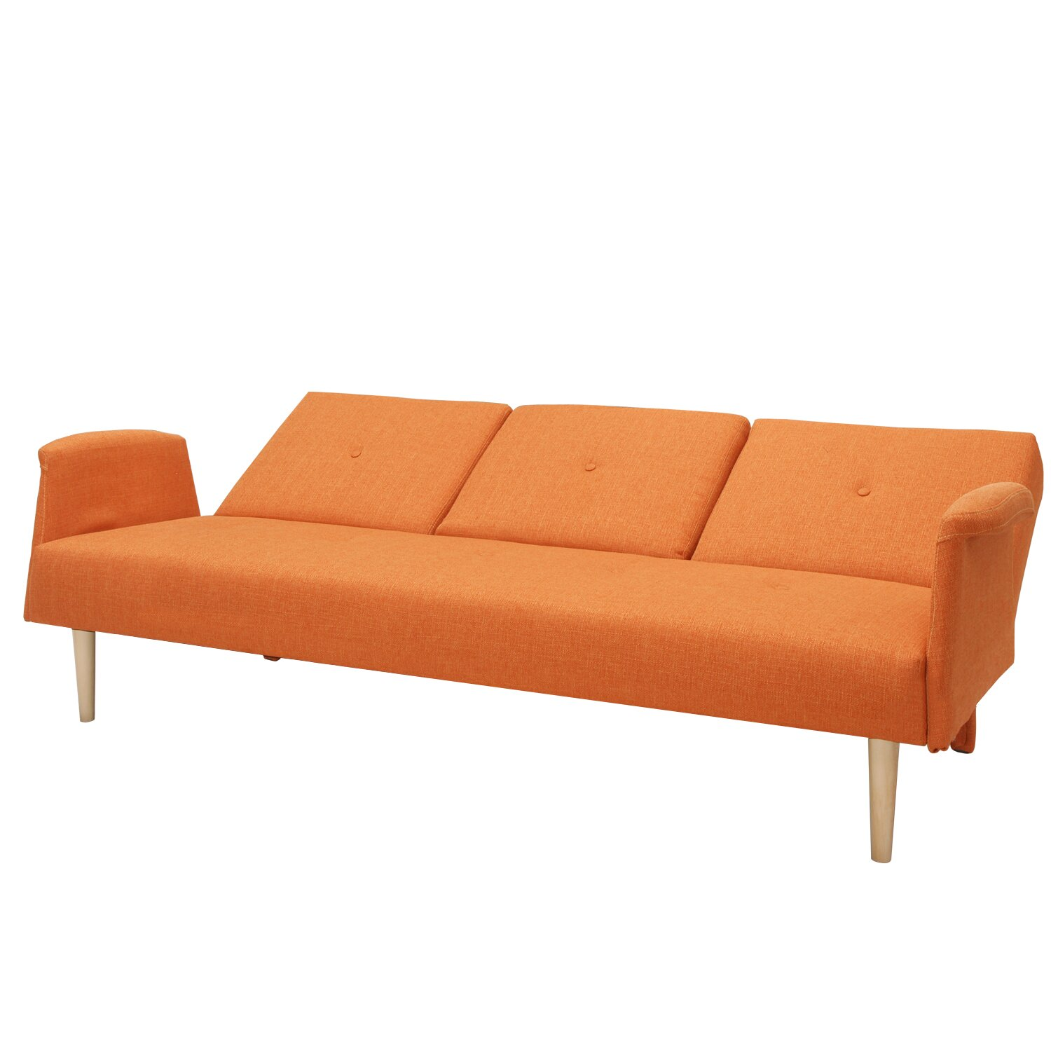 AdecoTrading Sleeper Sofa amp Reviews Wayfair : Adeco Fabric Fiber Sofa Bed Sofabed Lounge with Arm Soft Cushion Living Room Seat Wood legs e SF0003 SF0004 from www.wayfair.com size 1500 x 1500 jpeg 205kB