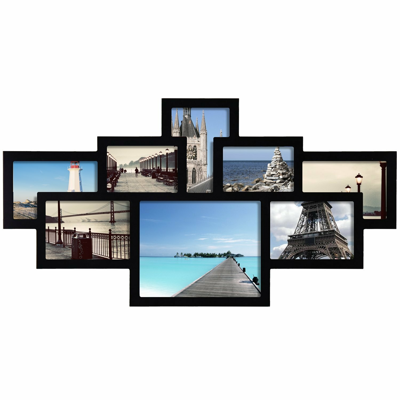 adecotrading 8 opening cluster collage picture frame wayfair. Black Bedroom Furniture Sets. Home Design Ideas