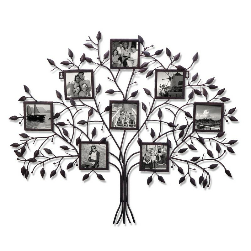 Adecotrading 8 Opening Decorative Family Tree Wall Hanging