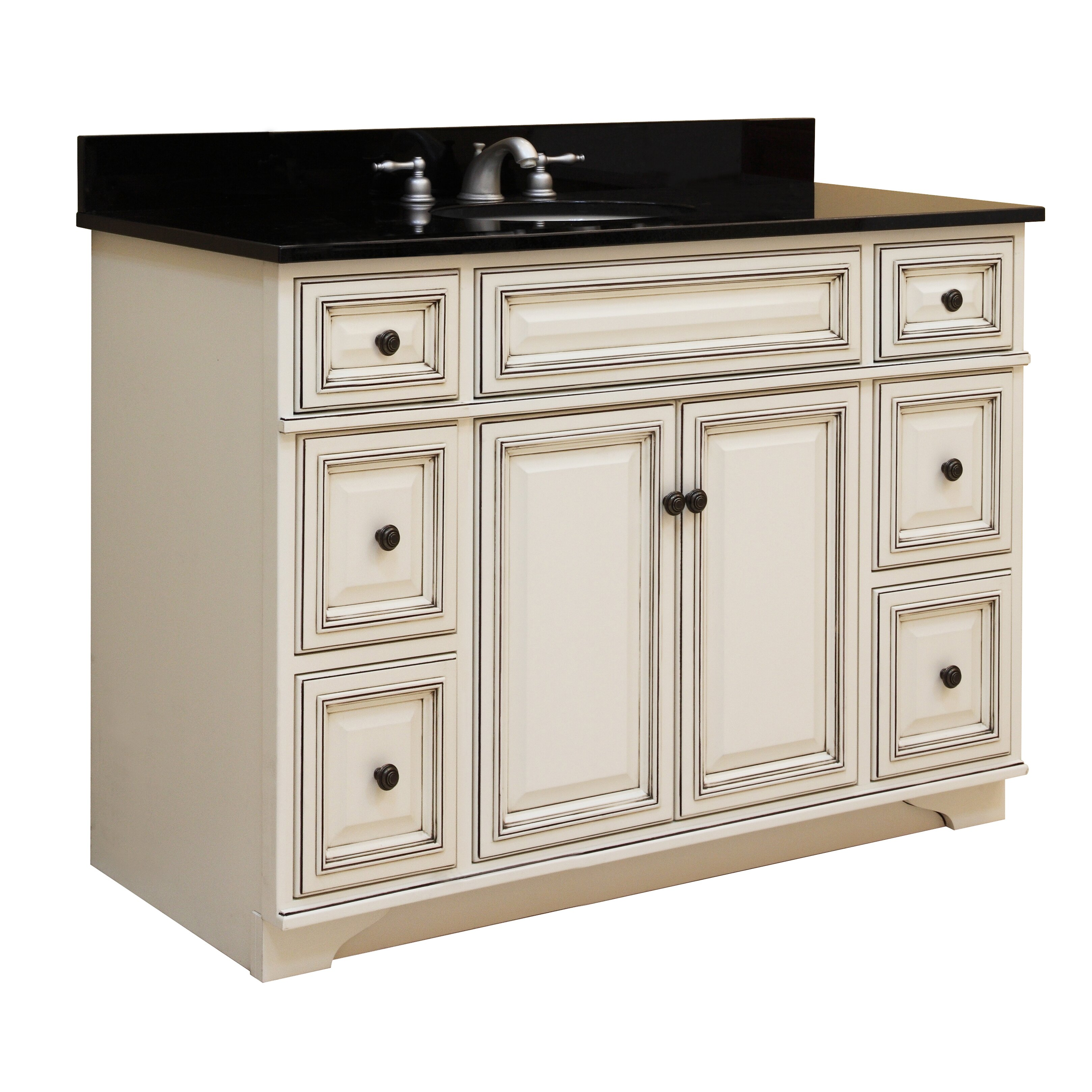 Sunny wood sanibel 48 bathroom vanity base wayfair - Bathroom vanity cabinet base only ...