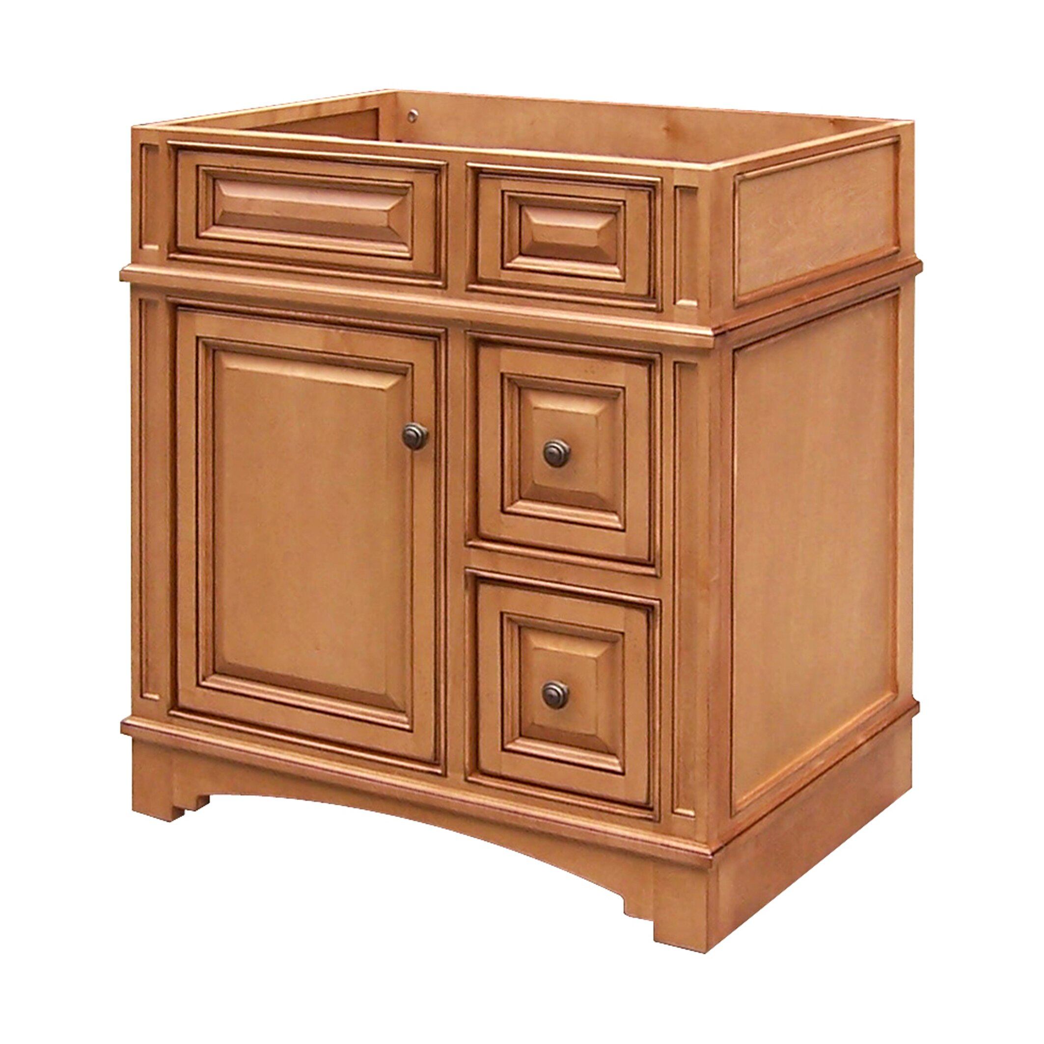 "Wayfair Bathroom Vanity >> Sunny Wood Vintage Estate 30"" Bathroom Vanity Base 