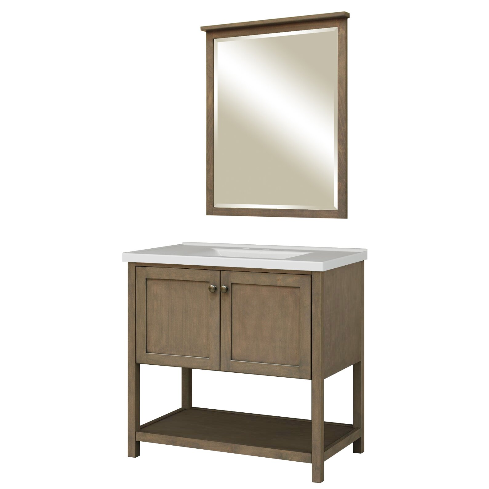 Sunny Wood Premier Tops 37 Bathroom Vanity Top With
