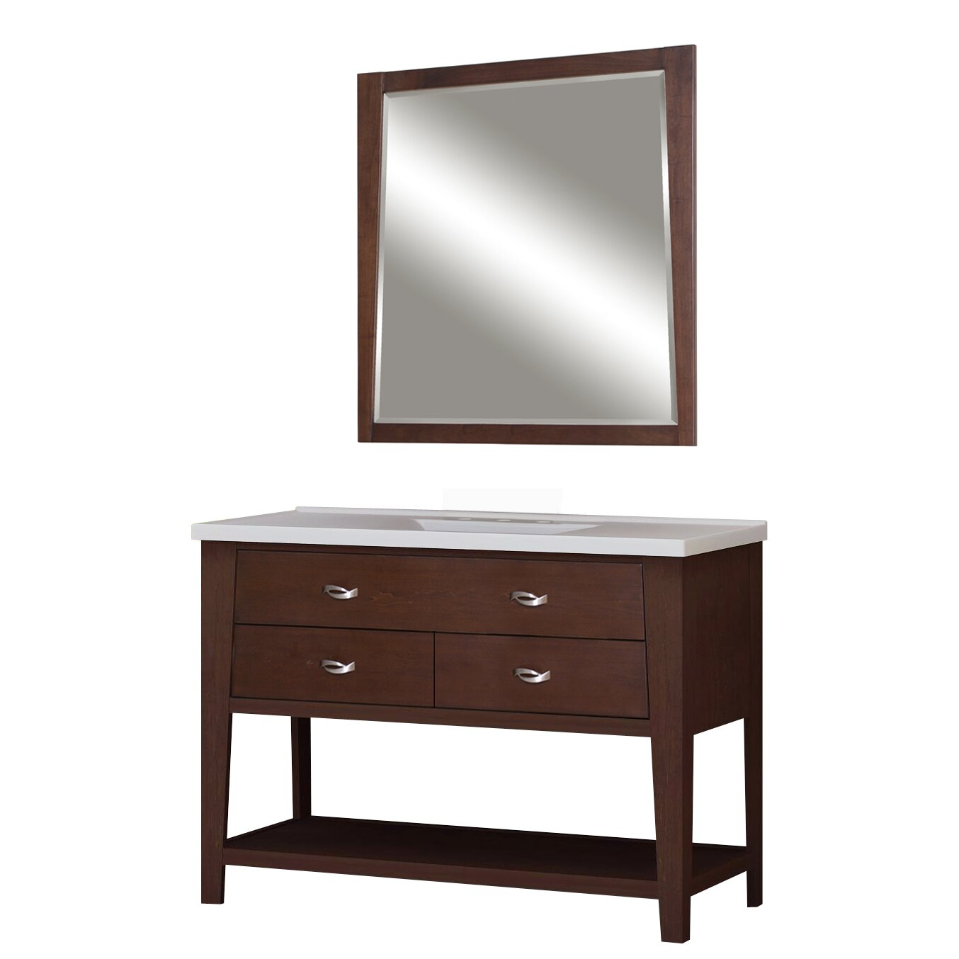 sunny wood premier tops 49 bathroom vanity top with. Black Bedroom Furniture Sets. Home Design Ideas