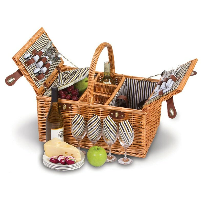 4 Person Insulated Picnic Basket : Picnic plus by spectrum dilworth person basket
