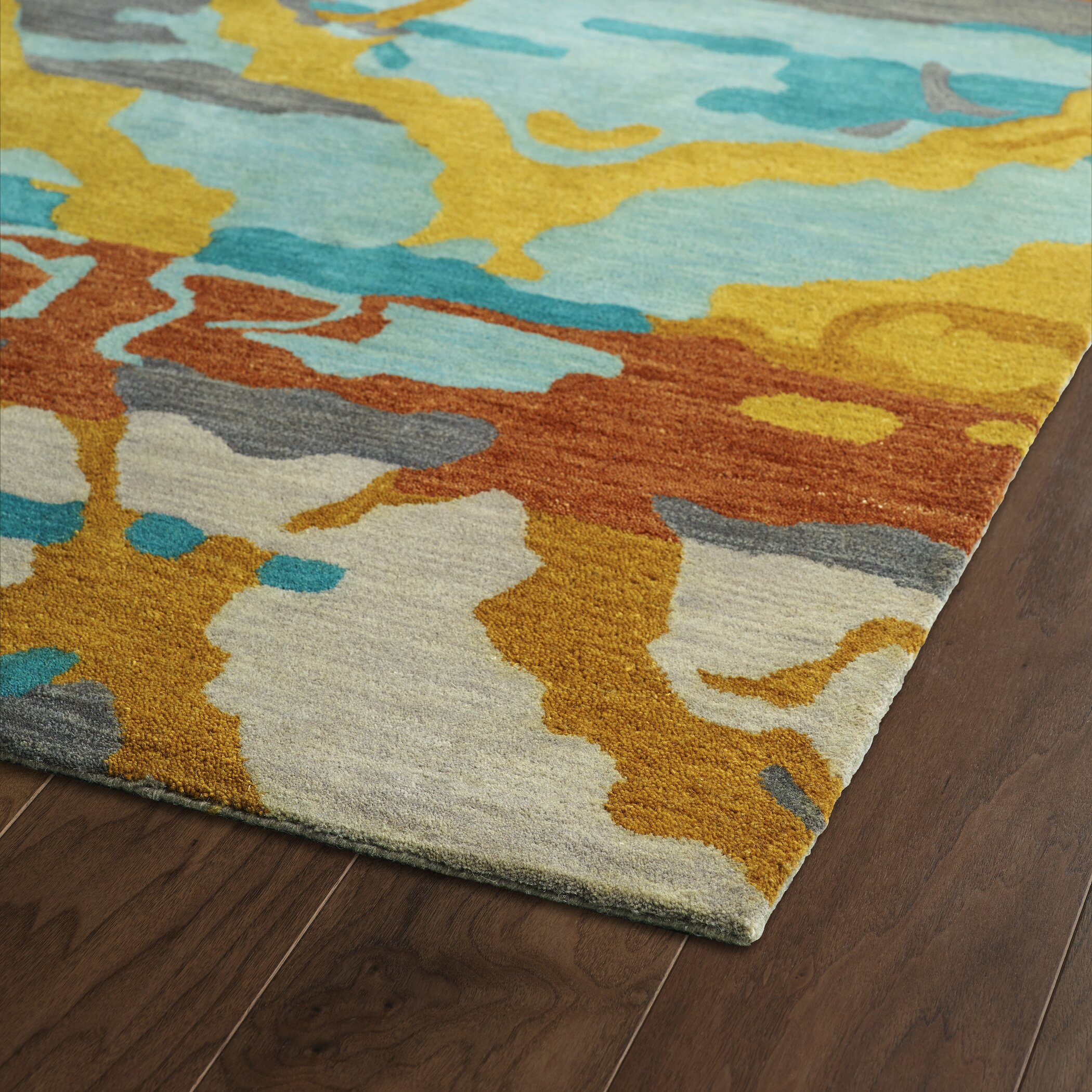 Kaleen Brushstrokes Teal Area Rug & Reviews