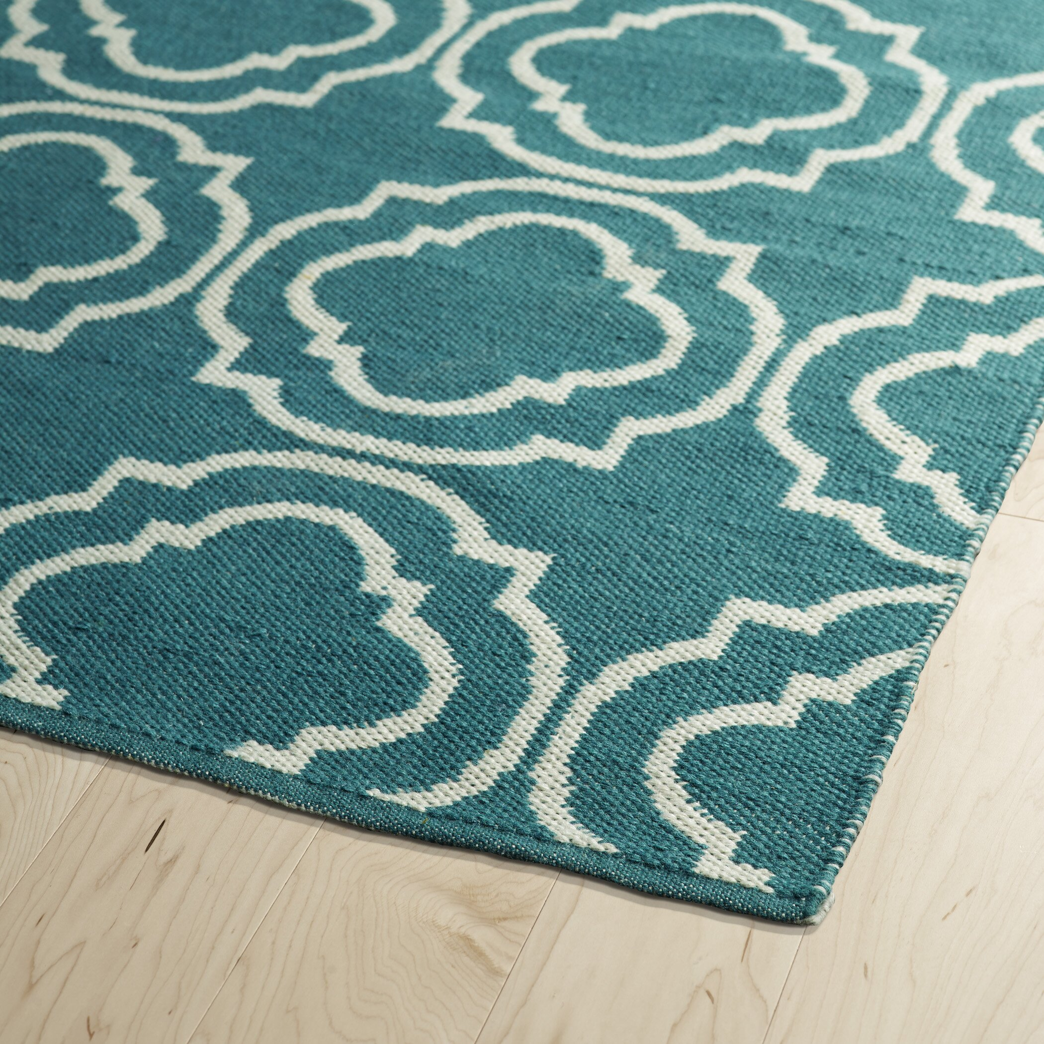 Kaleen Brisa Teal & Cream Indoor/Outdoor Area Rug