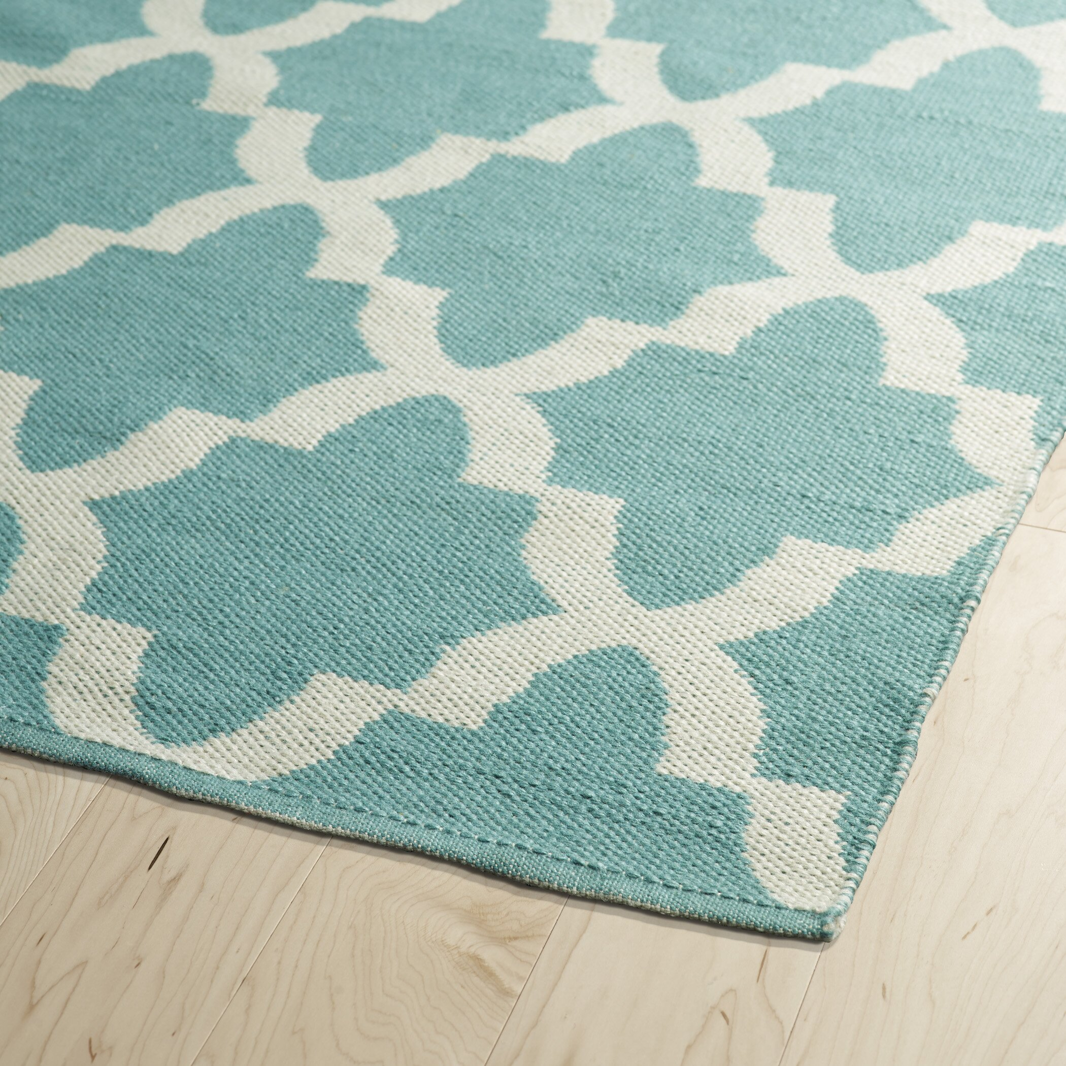 Kaleen Brisa Teal Amp White Indoor Outdoor Area Rug