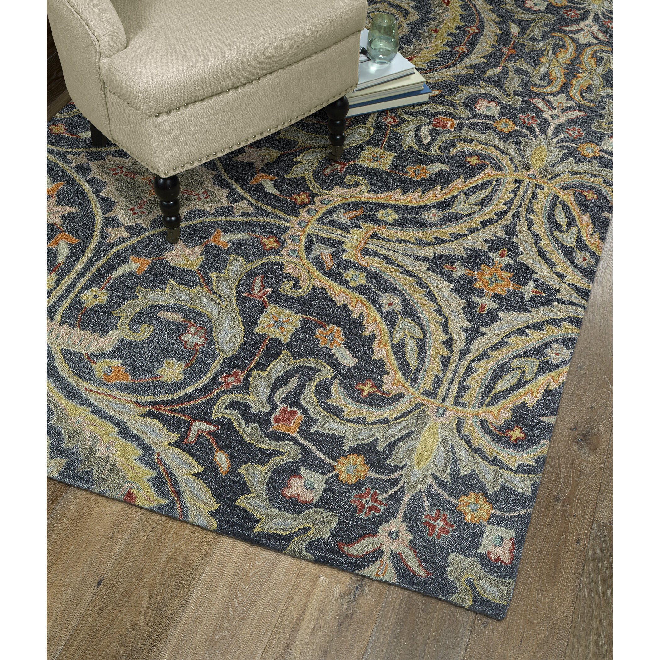 Kaleen Helena Rug Turq: Kaleen Helena Pewter Area Rug & Reviews