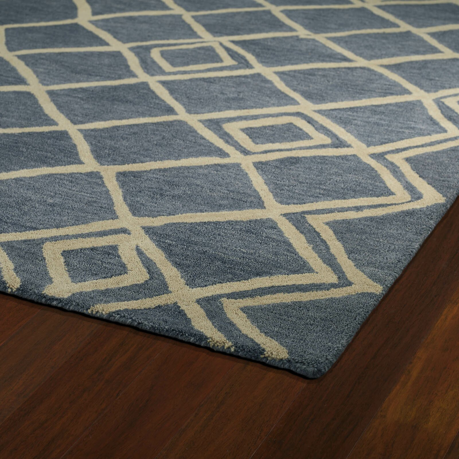 Kaleen Casablanca Blue Geometric Rug Amp Reviews Wayfair