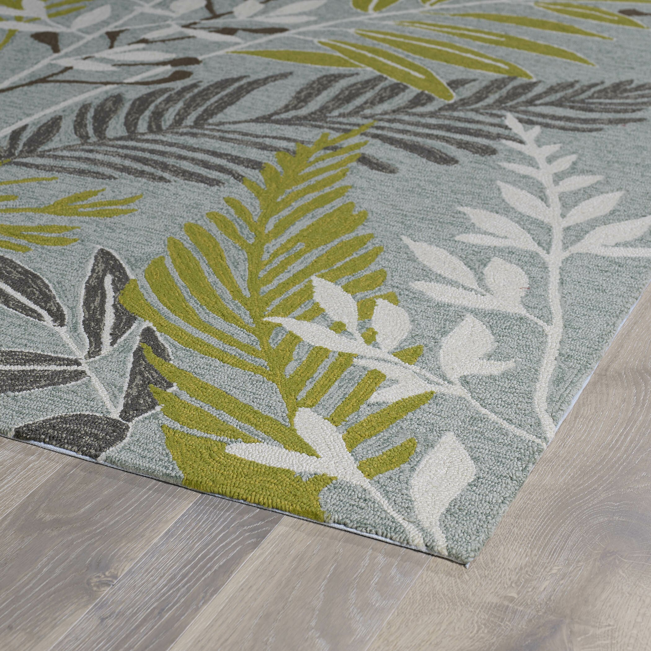 Kaleen Home And Porch Hand-Tufted Wasabi Green/Grey Indoor