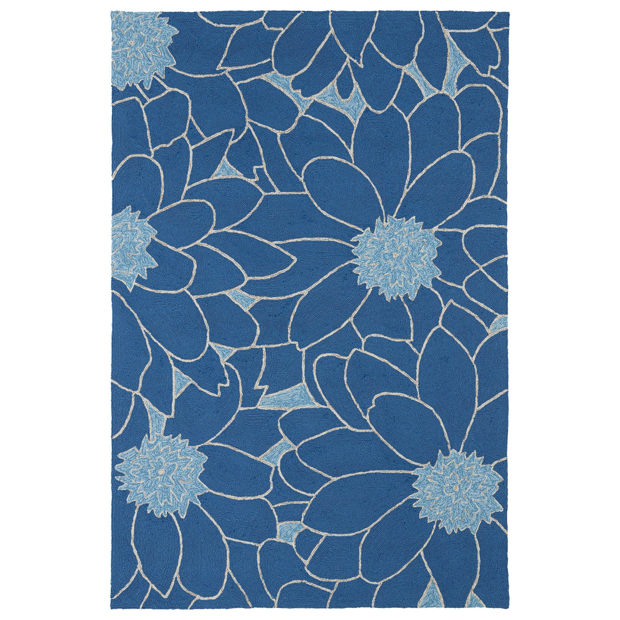 Kaleen home and porch blue indoor outdoor area rug for Blue indoor outdoor rug