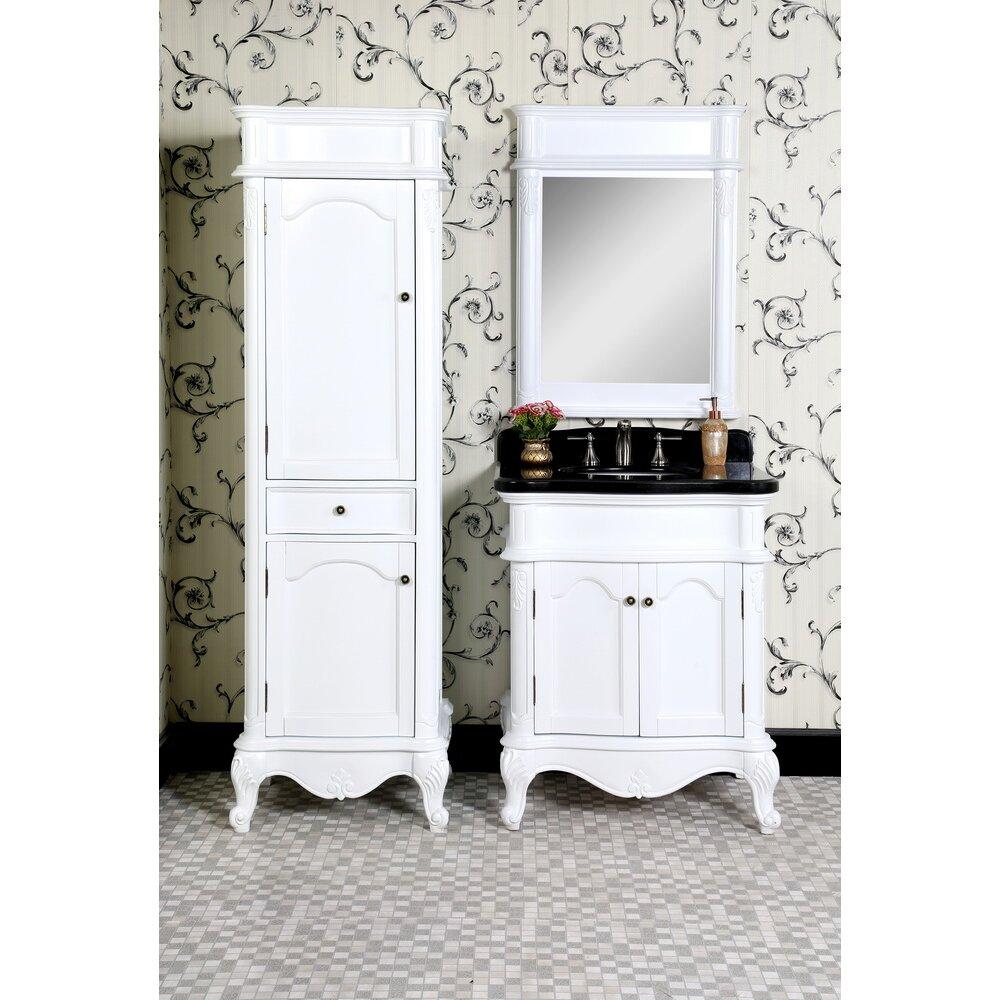 Infurniture Wb 30 Quot Single Bathroom Vanity Set With Linen