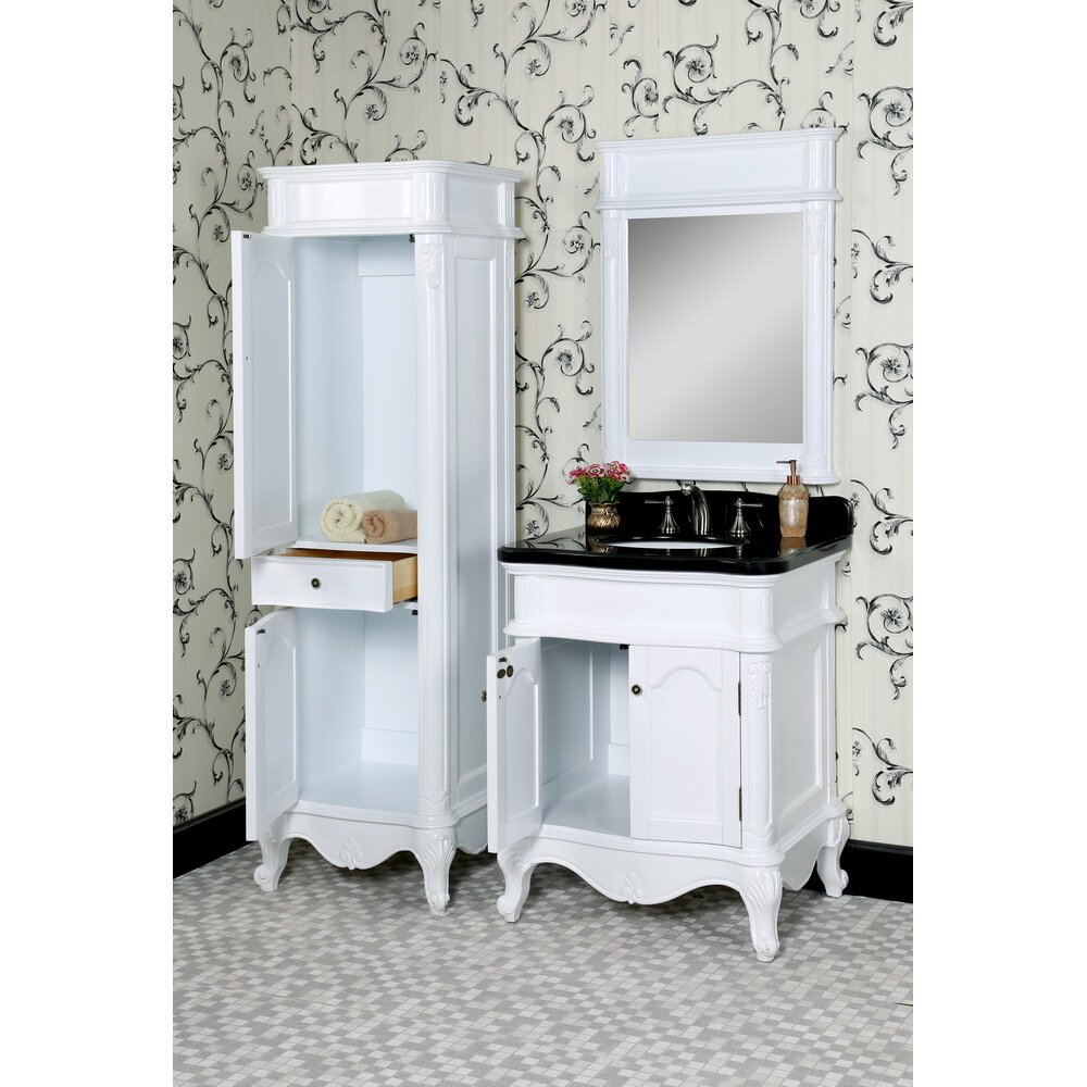 Infurniture Wb 30 Quot Single Bathroom Vanity Set With Linen