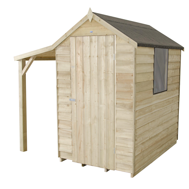Forest garden 4 x 6 wooden storage shed wayfair uk for Garden shed 4 x 2