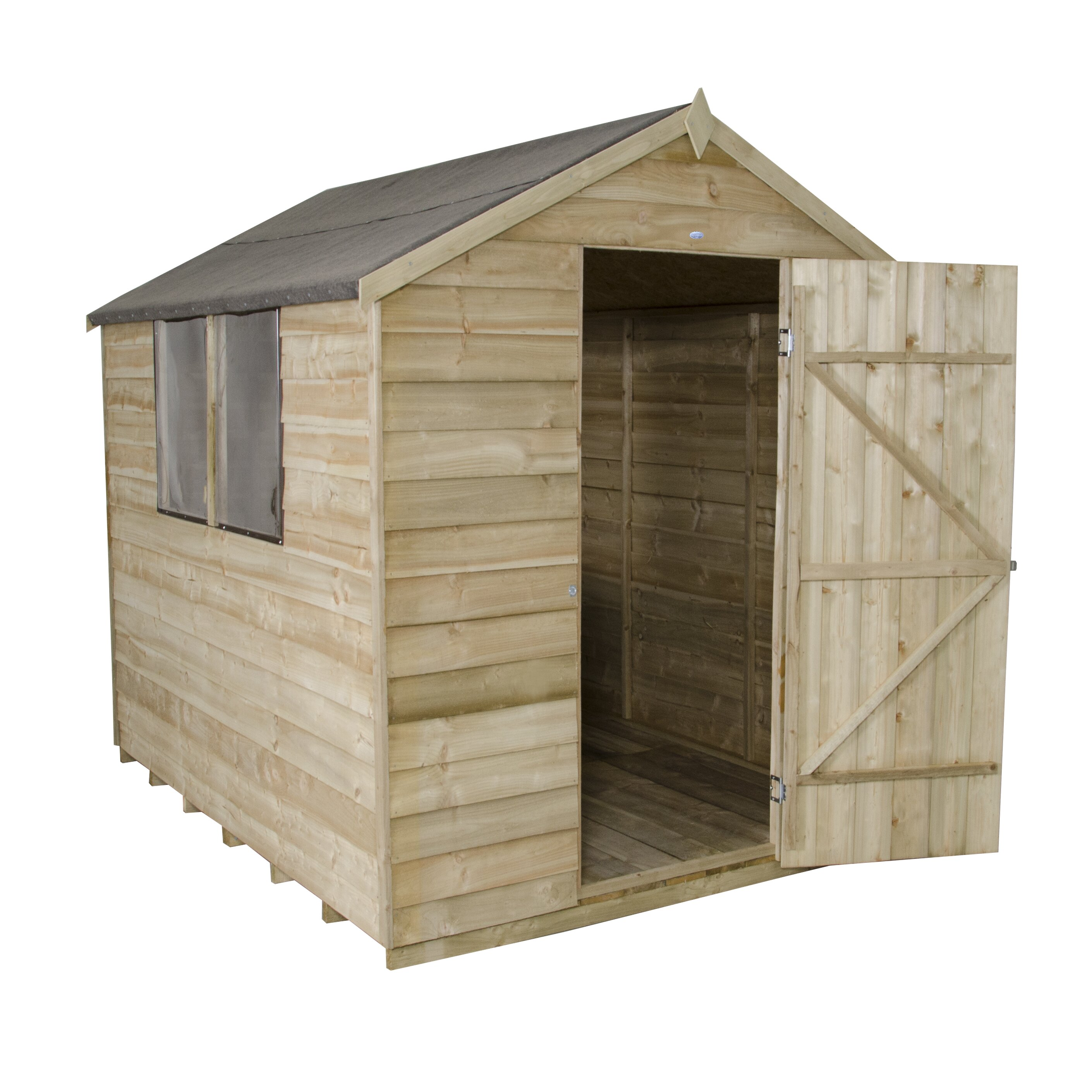 Forest garden 6 x 8 wooden storage shed wayfair uk for Garden and storage sheds