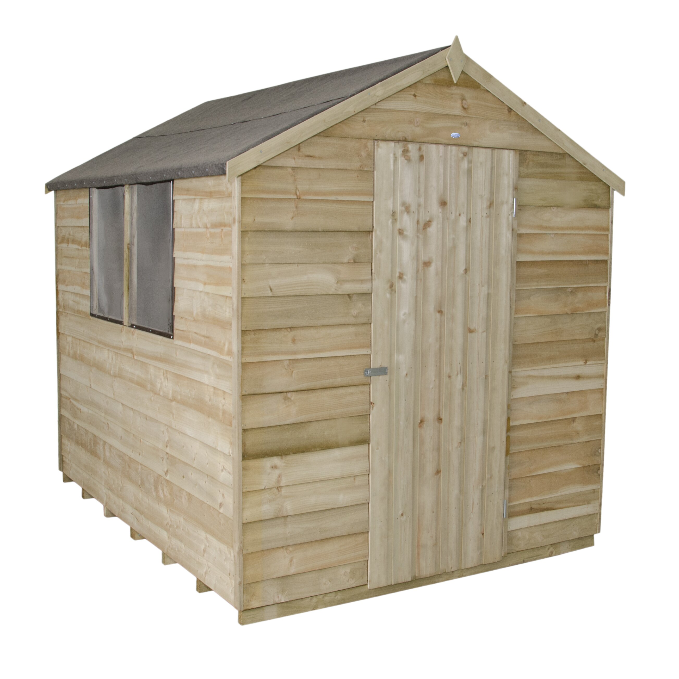 Forest garden 6 x 8 wooden storage shed wayfair uk for Wood storage shed