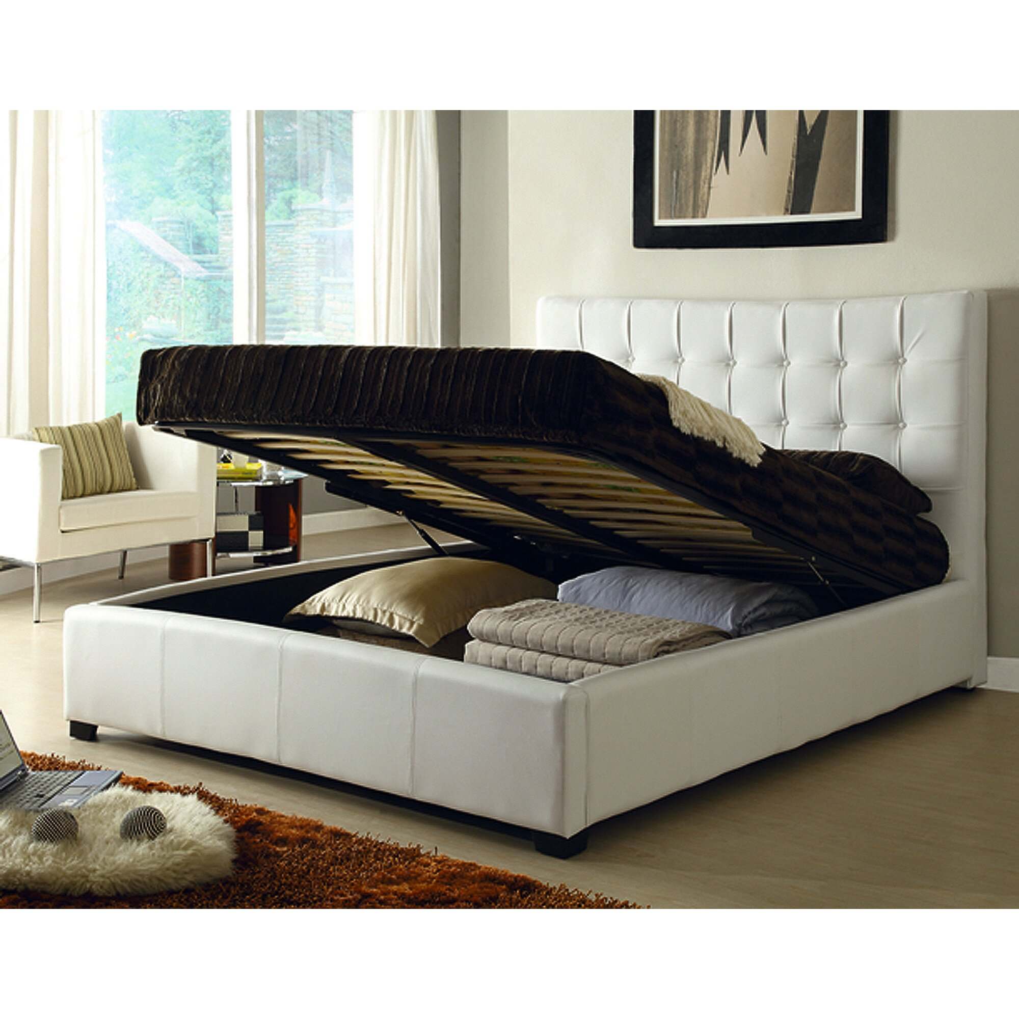 At Home Usa Athens Twin Platform Bed With Storage Wayfair
