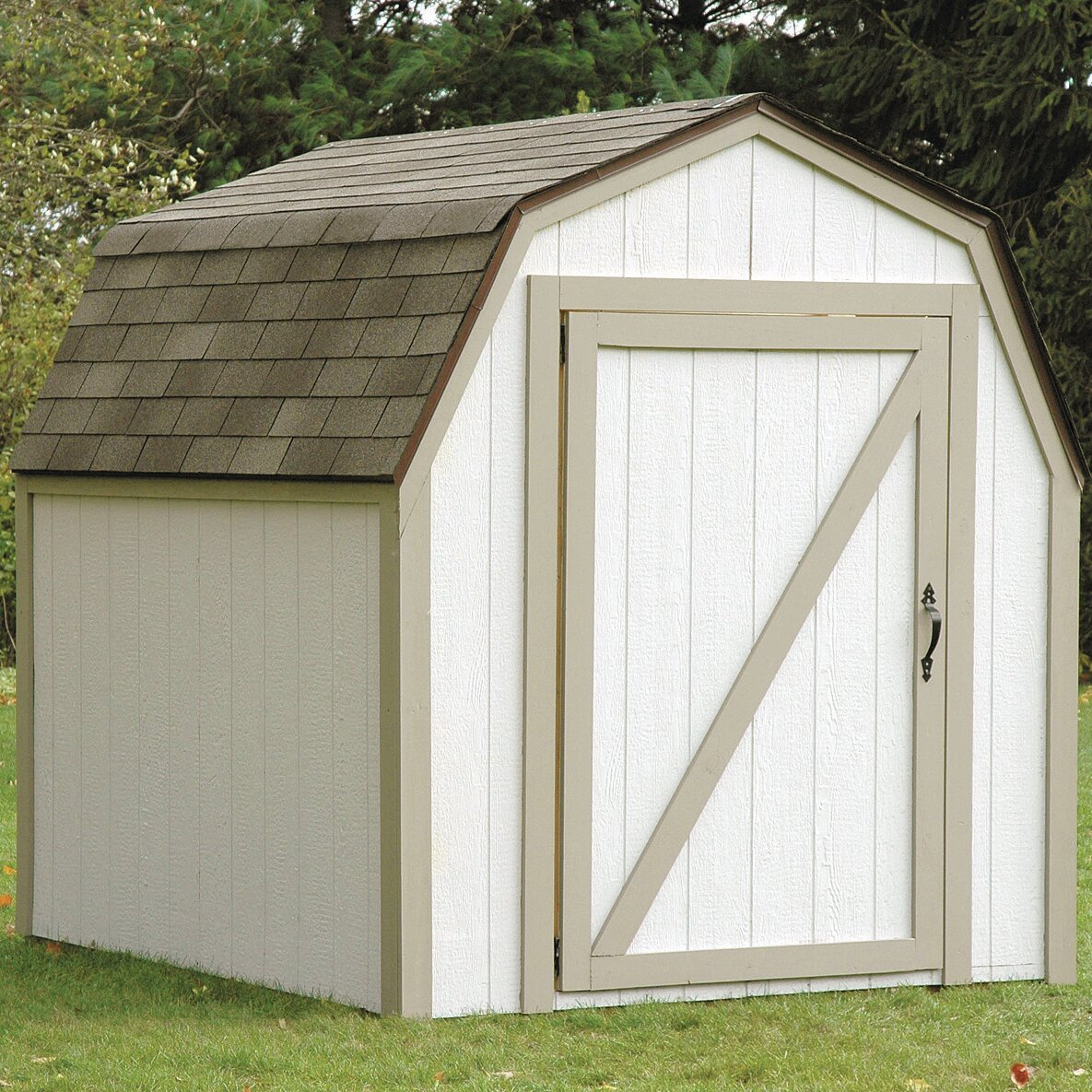 2x4 basics 7ft w x 6 ft d barn roof shed kit reviews for Shed roofs
