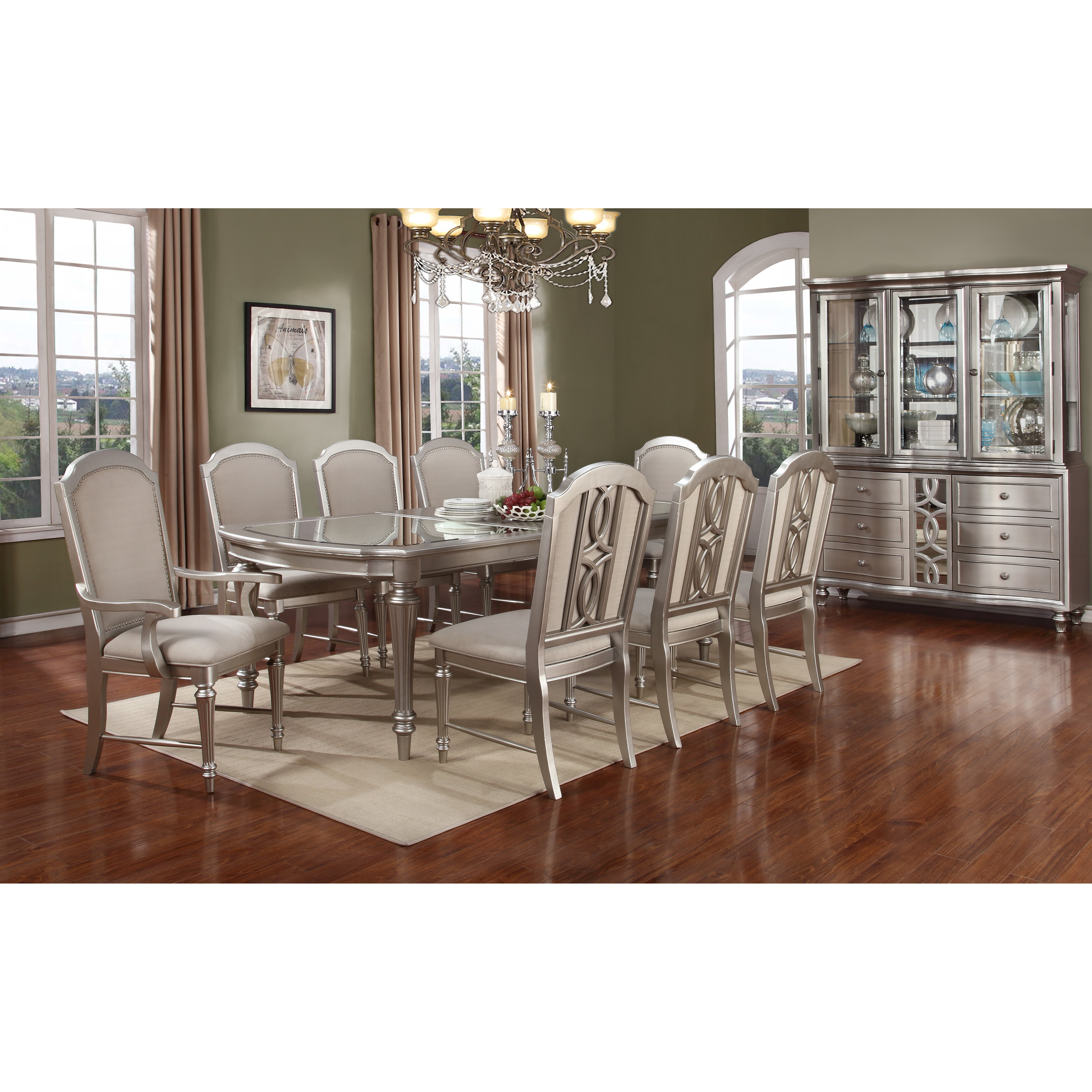 Avalon furniture regency park 9 piece dining set reviews wayfair for Regency furniture living room sets