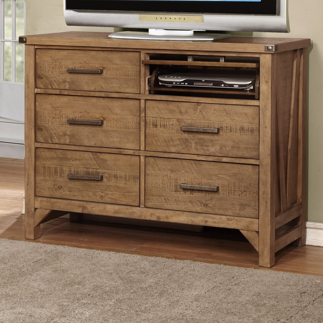 avalon furniture telluride 4 drawer media chest wayfair. Black Bedroom Furniture Sets. Home Design Ideas