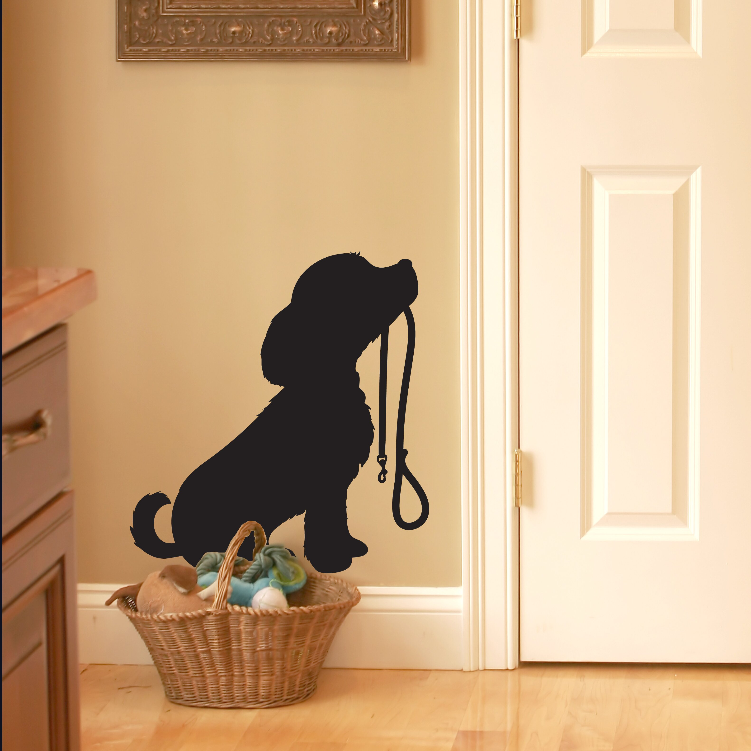 nutmeg wall stickers puppy dog with lead wall sticker