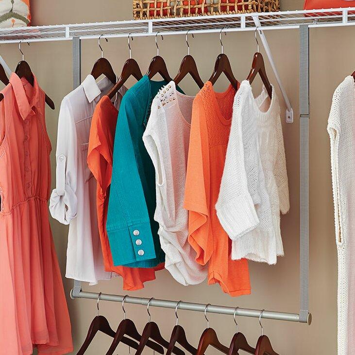 Closetmaid Double Hang Closet Rod Amp Reviews Wayfair