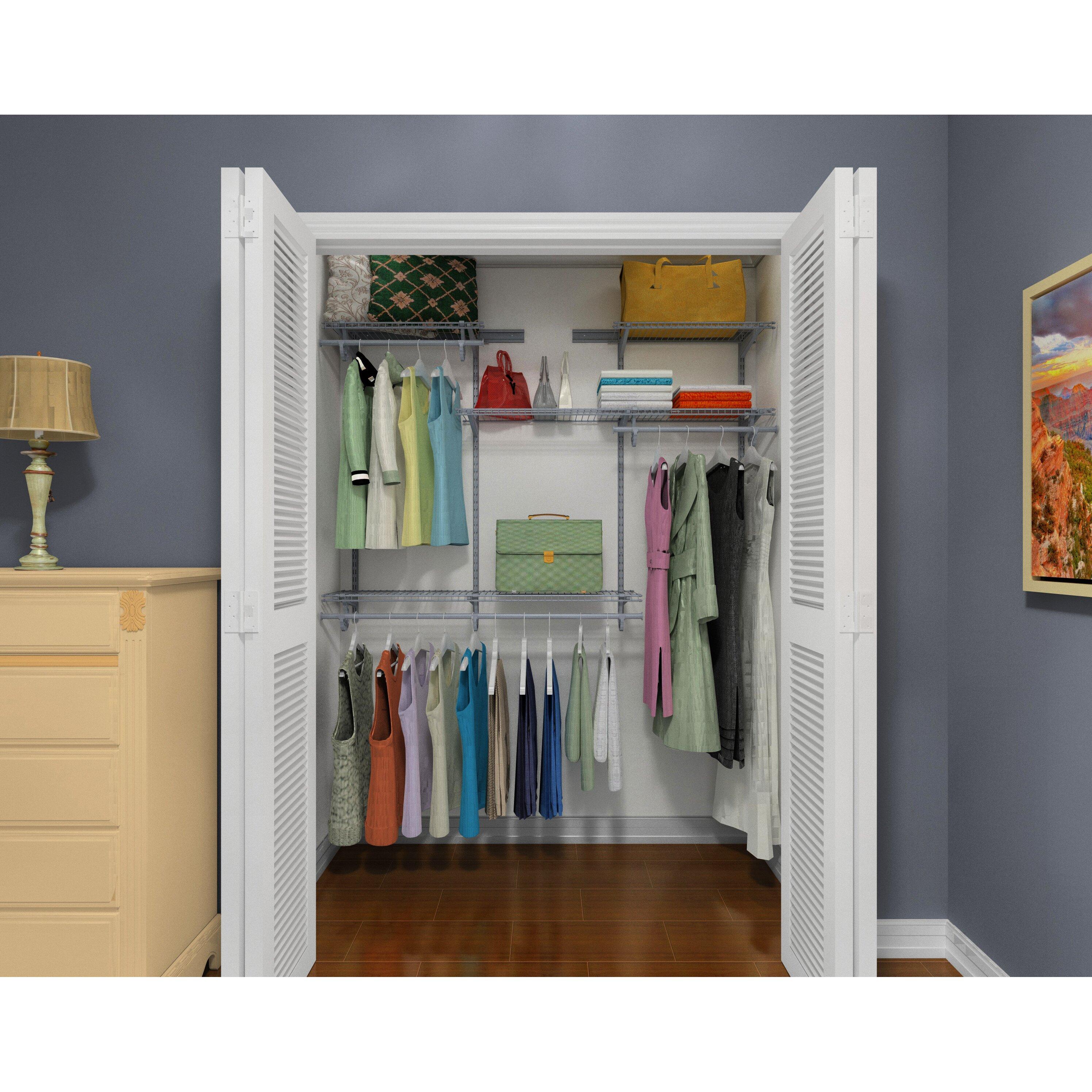 closetmaid shelftrack 48 w 72 w closet system reviews wayfair. Black Bedroom Furniture Sets. Home Design Ideas