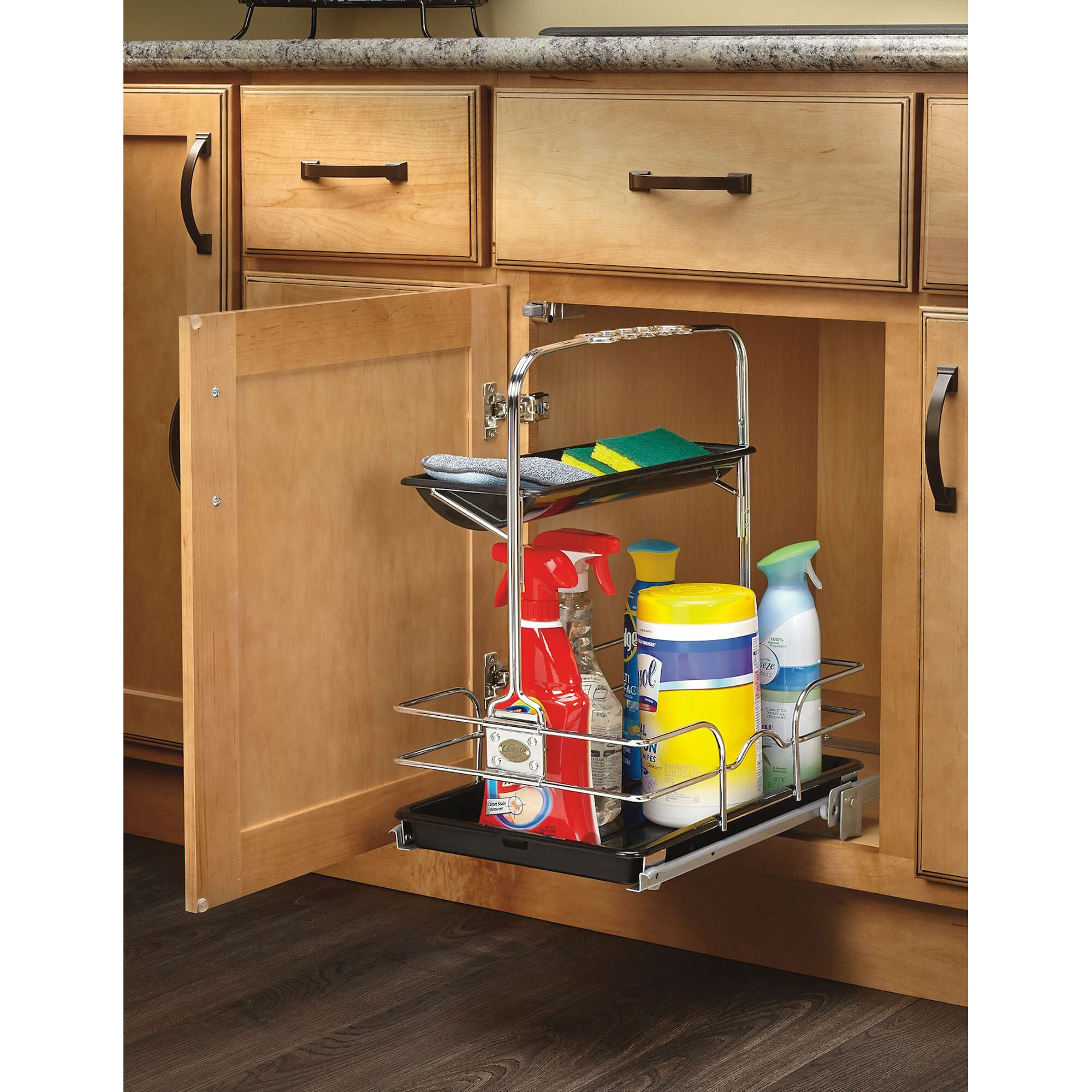 Cleaning Kitchen Cabinets: Rev-A-Shelf Cleaning Caddy & Reviews