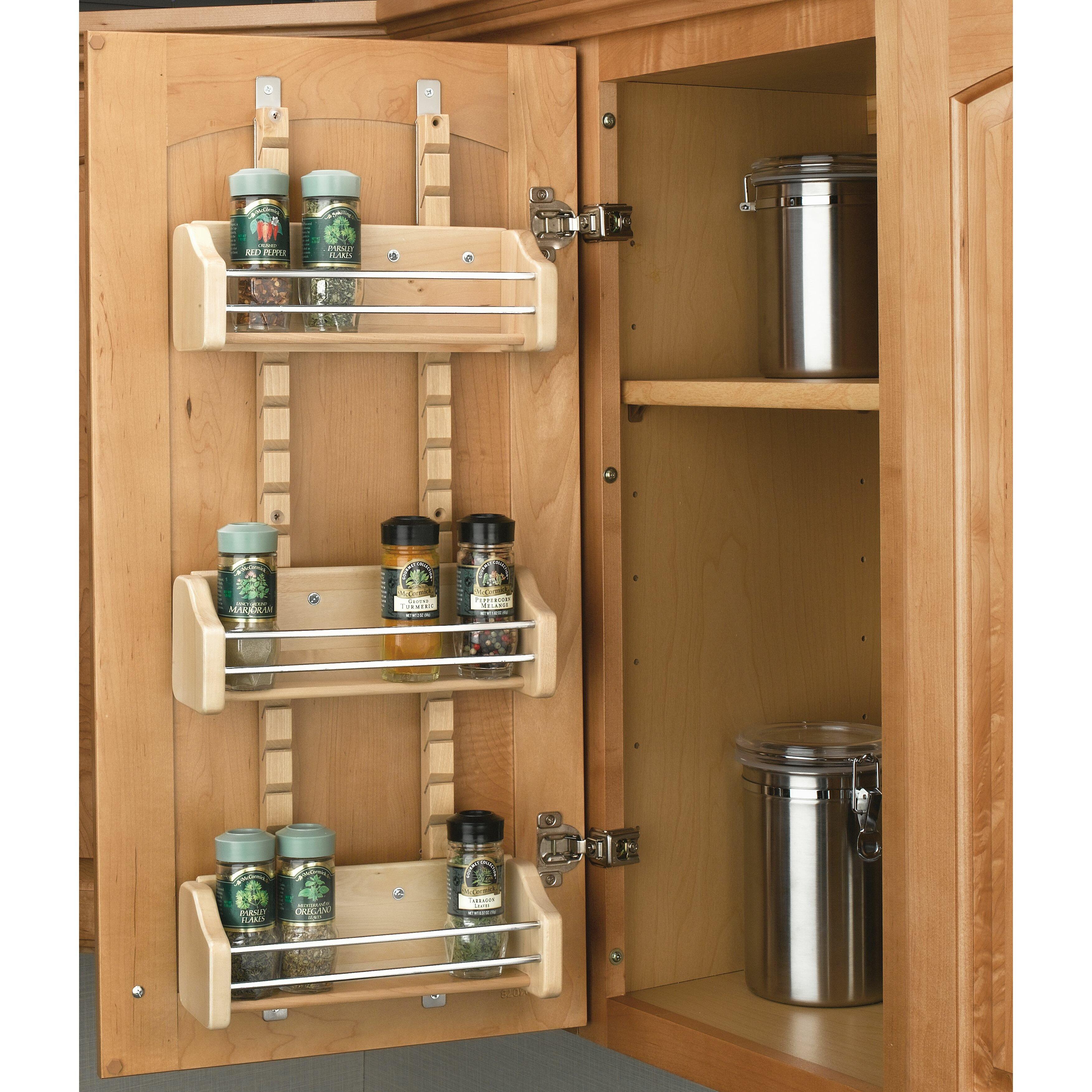 rev a shelf adjustable door mount spice rack reviews. Black Bedroom Furniture Sets. Home Design Ideas