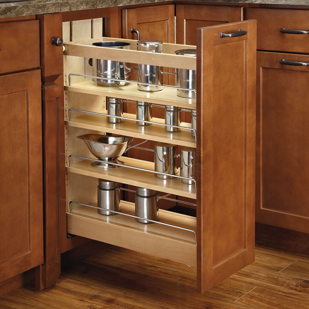 Rev A Shelf 14 Soft Close Base Cabinet Organizer Wayfair