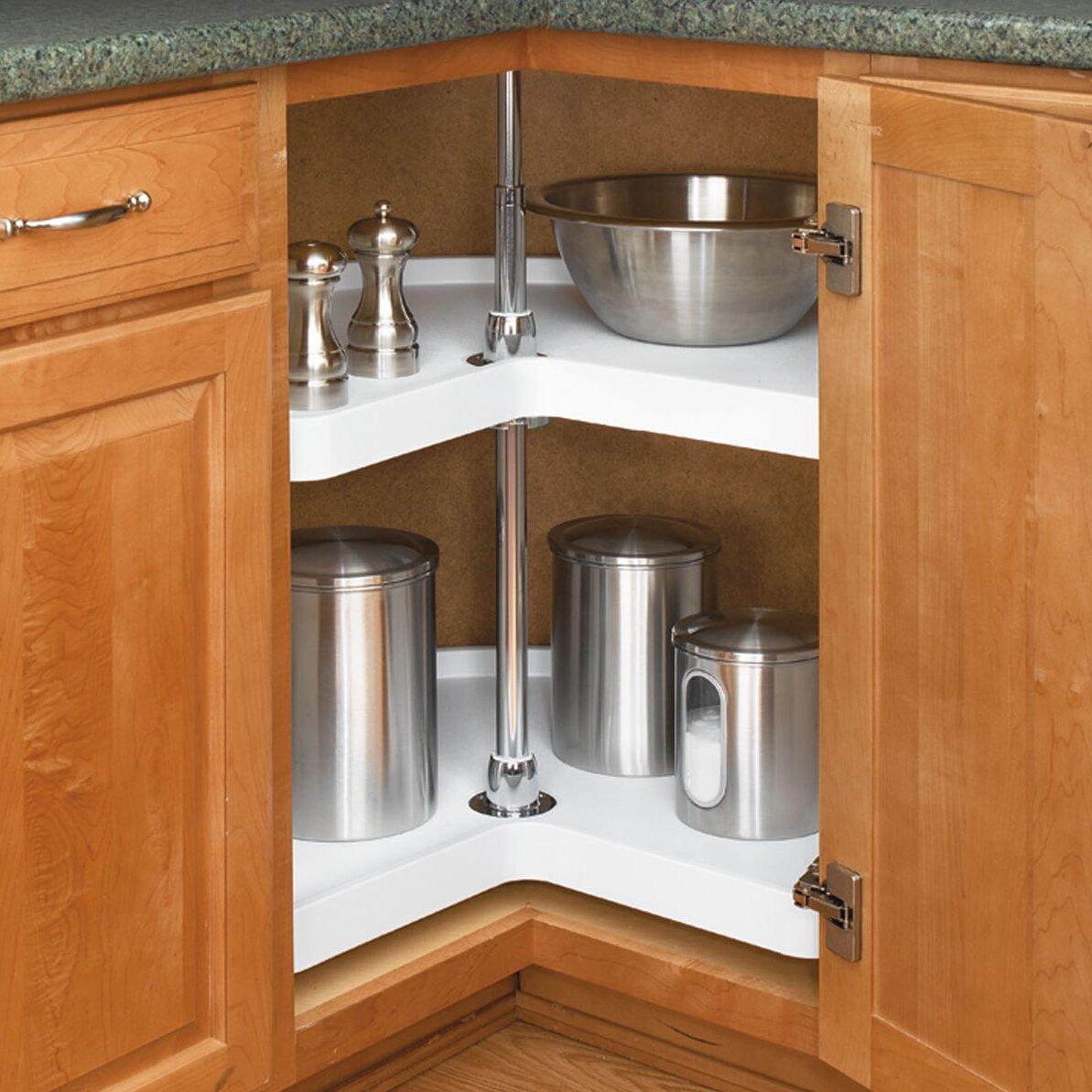 rev a shelf kidney 32 2 shelf lazy susan reviews wayfair. Black Bedroom Furniture Sets. Home Design Ideas