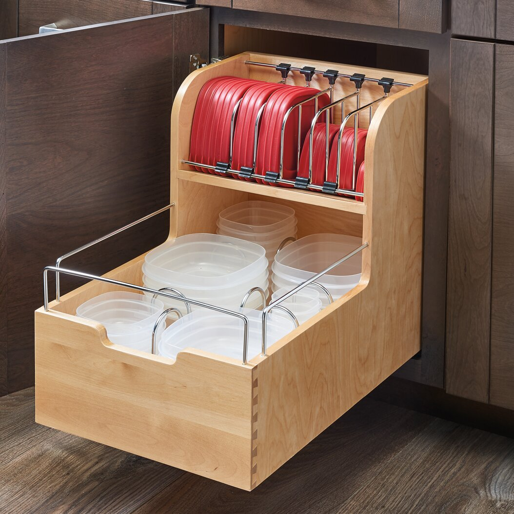 Kitchen Storage Containers For Sale: Rev-A-Shelf Wood Food Storage Container Organizer For Base