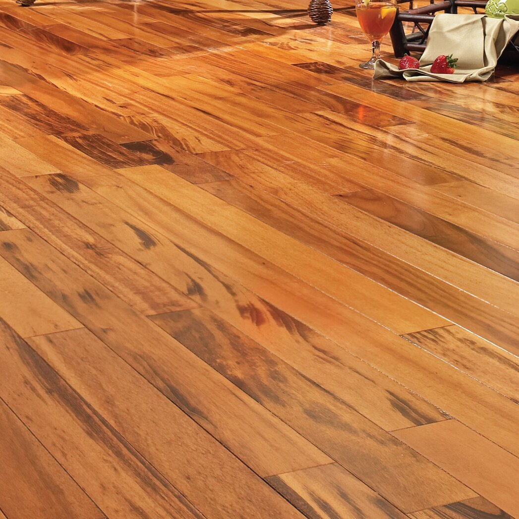 Easoon usa 5 solid brazilian tigerwood hardwood flooring for Solid hardwood flooring