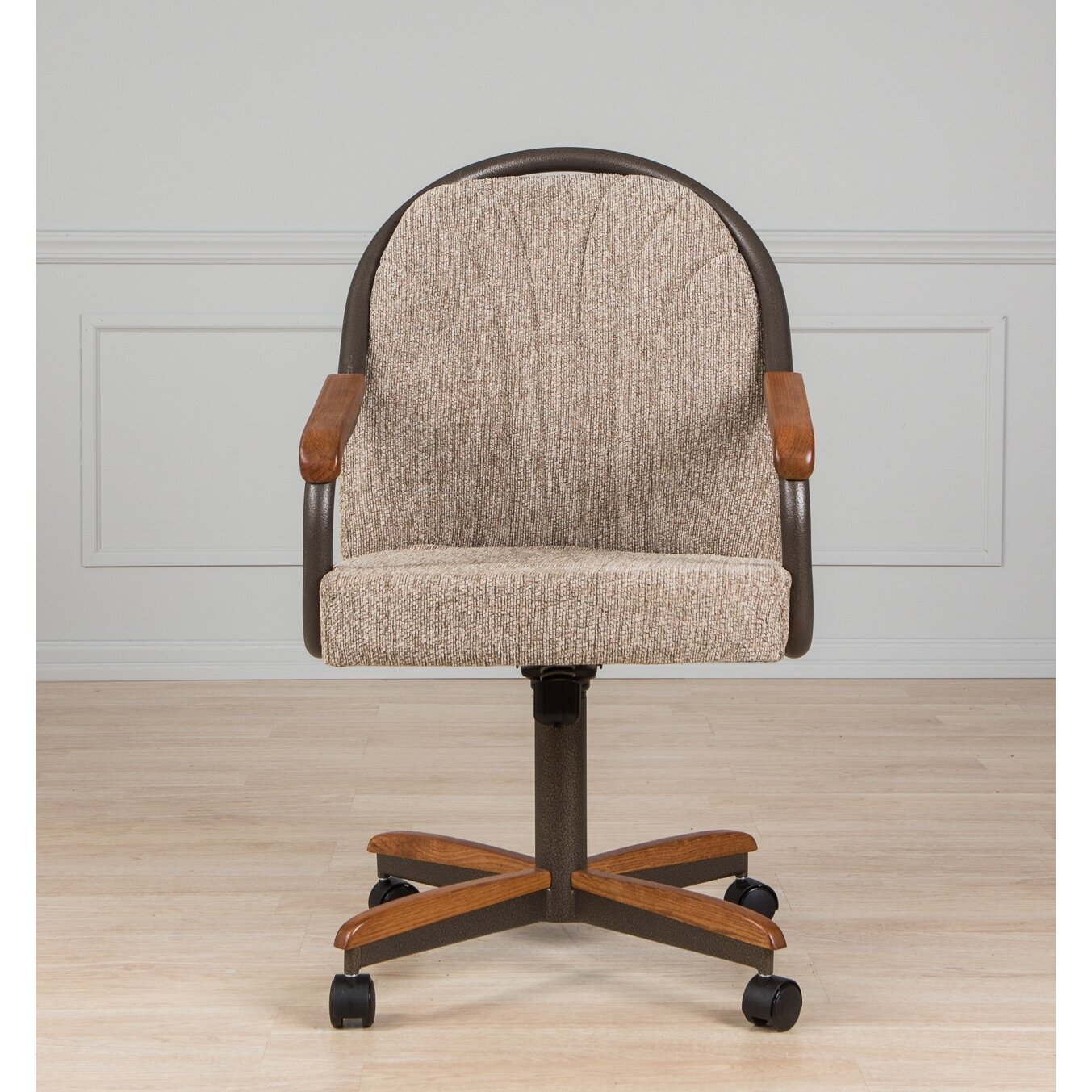 Shop Casual Dining Brown Cushion Swivel And Tilt Rolling: AW Furniture Arm Chair & Reviews