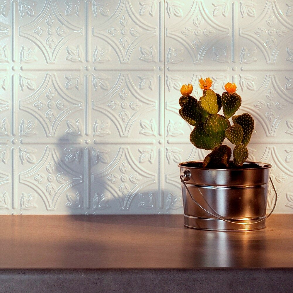 fasade traditional x pvc backsplash panel kit in matt