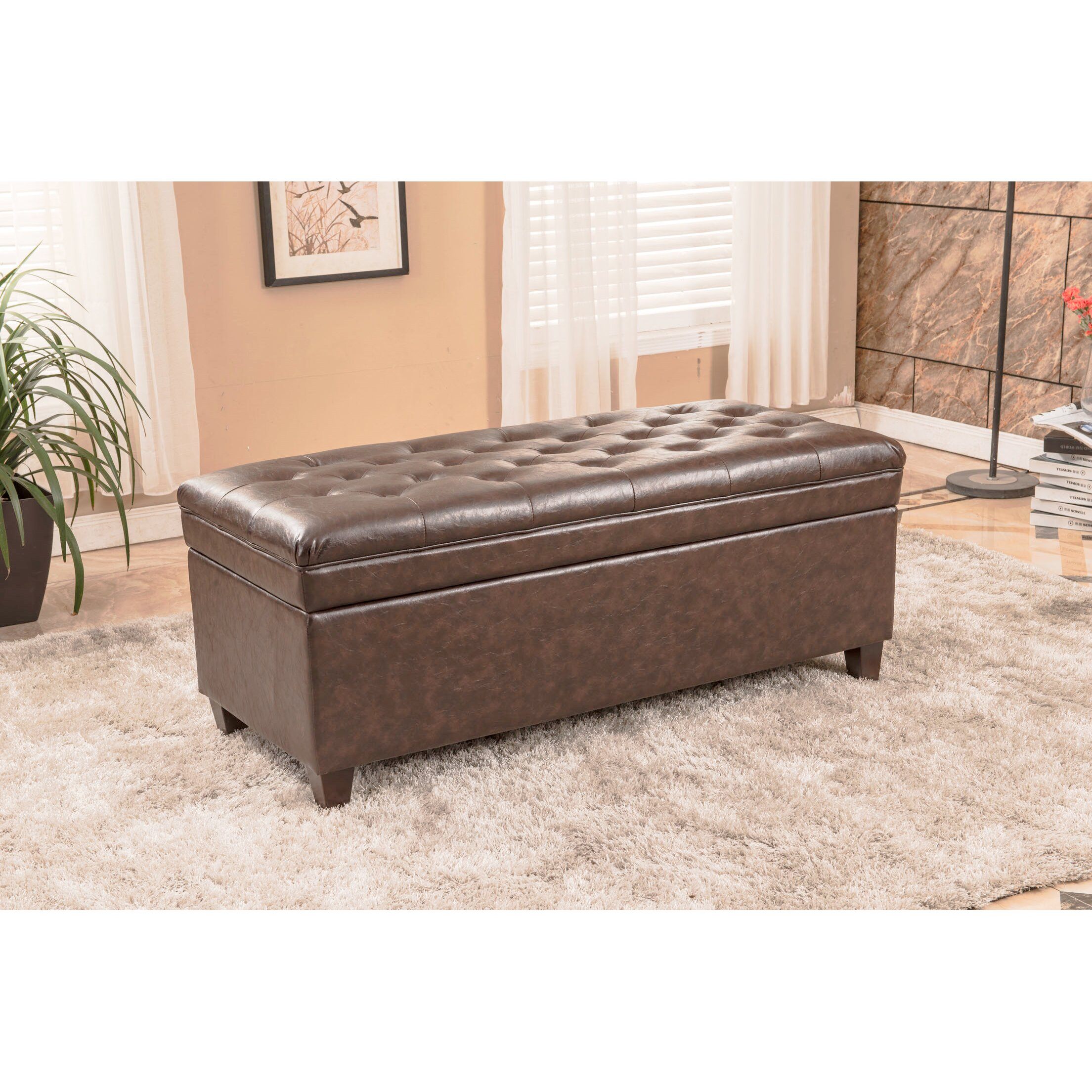 Bellasario collection upholstered storage bedroom bench reviews wayfair - Benches for bedrooms ...