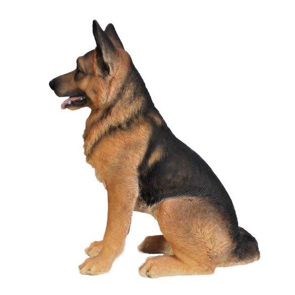 Hi Line Gift Ltd Sitting Dog F German Shepherd Statue Reviews Wayfair