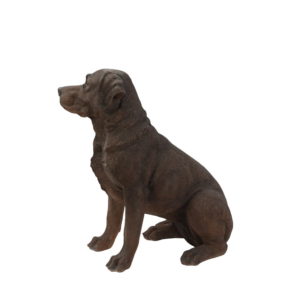 Hi line gift ltd sitting brown labrador retreiver dog statue amp reviews wayfair